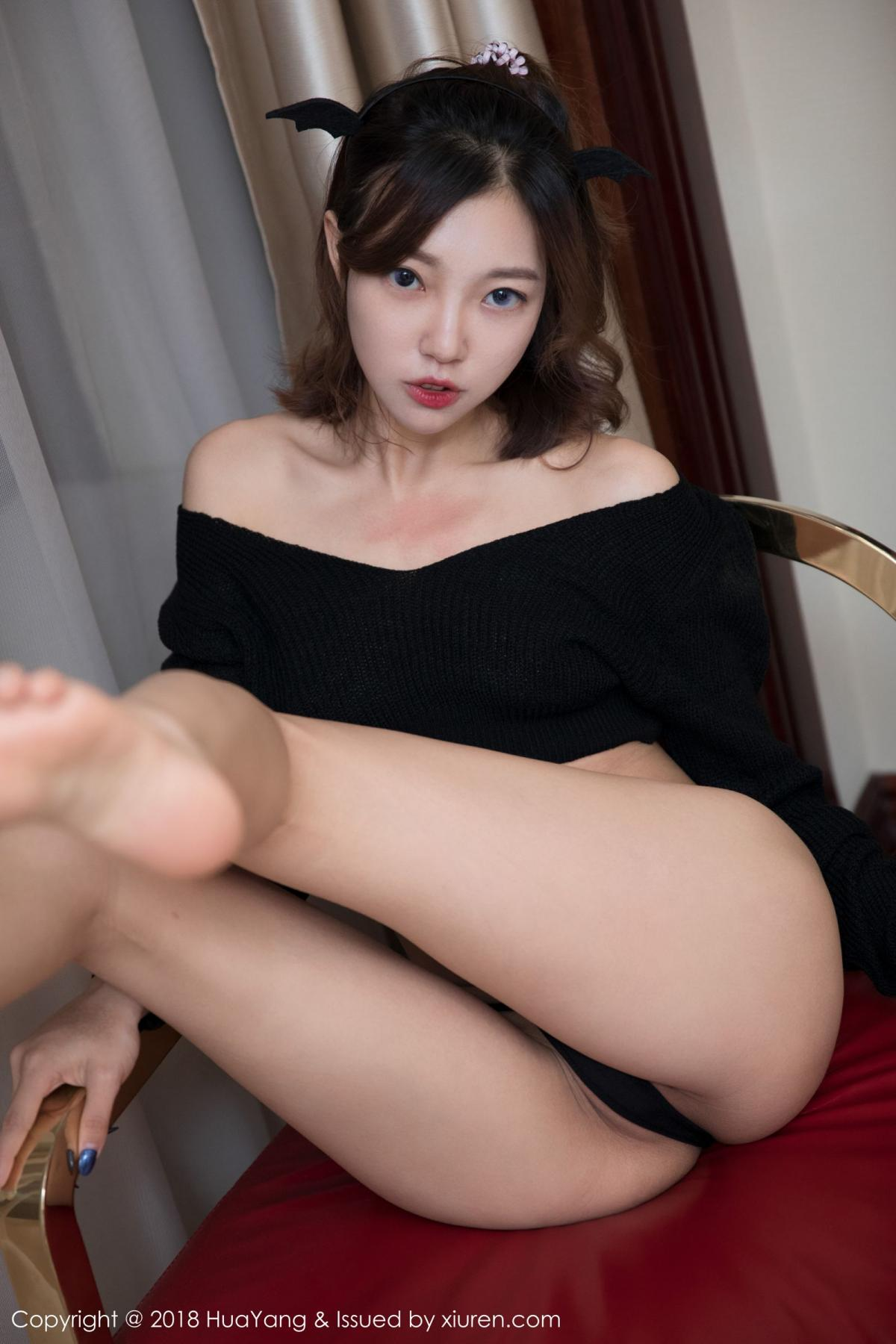 [Huayang] Vol.066 Feng Mu Mu 34P, Black Silk, Feng Mu Mu, HuaYang, Policewoman, Tall