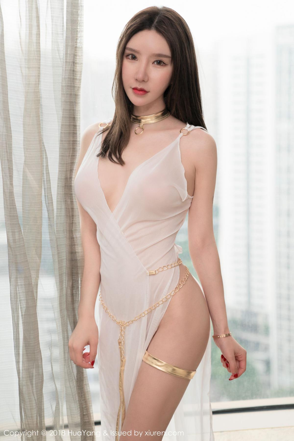 [Huayang] Vol.076 Zhou Yu Xi 30P, Adult, Fair Skin, HuaYang, Underwear, Zhou Yu Xi