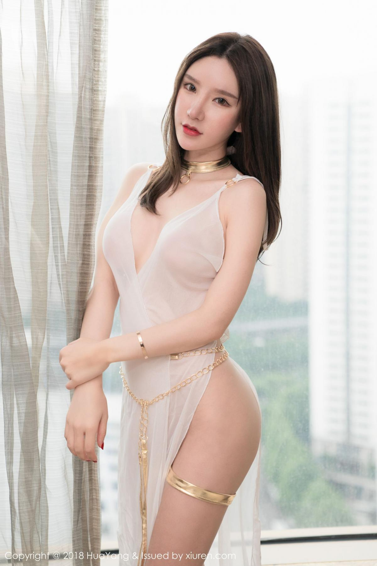 [Huayang] Vol.076 Zhou Yu Xi 32P, Adult, Fair Skin, HuaYang, Underwear, Zhou Yu Xi