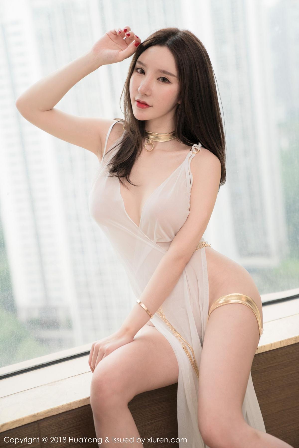 [Huayang] Vol.076 Zhou Yu Xi 37P, Adult, Fair Skin, HuaYang, Underwear, Zhou Yu Xi