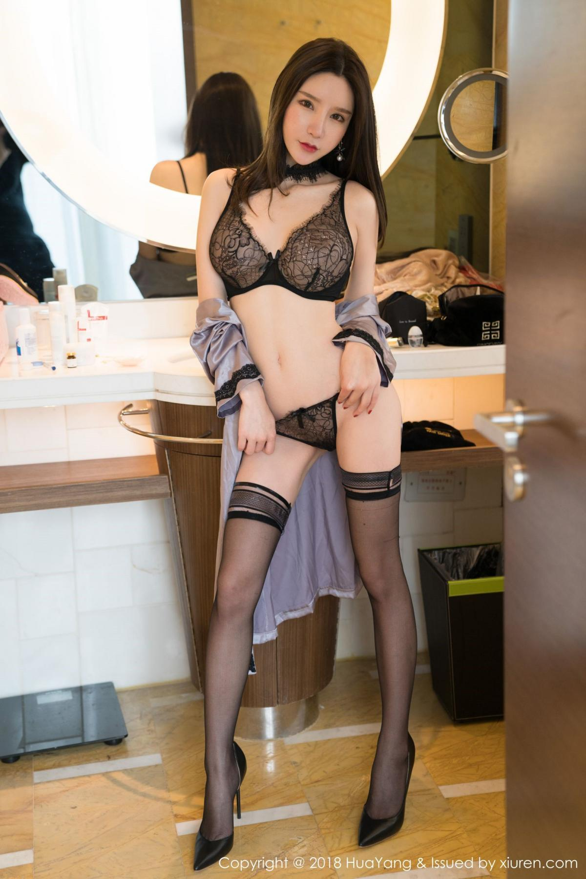 [Huayang] Vol.076 Zhou Yu Xi 8P, Adult, Fair Skin, HuaYang, Underwear, Zhou Yu Xi