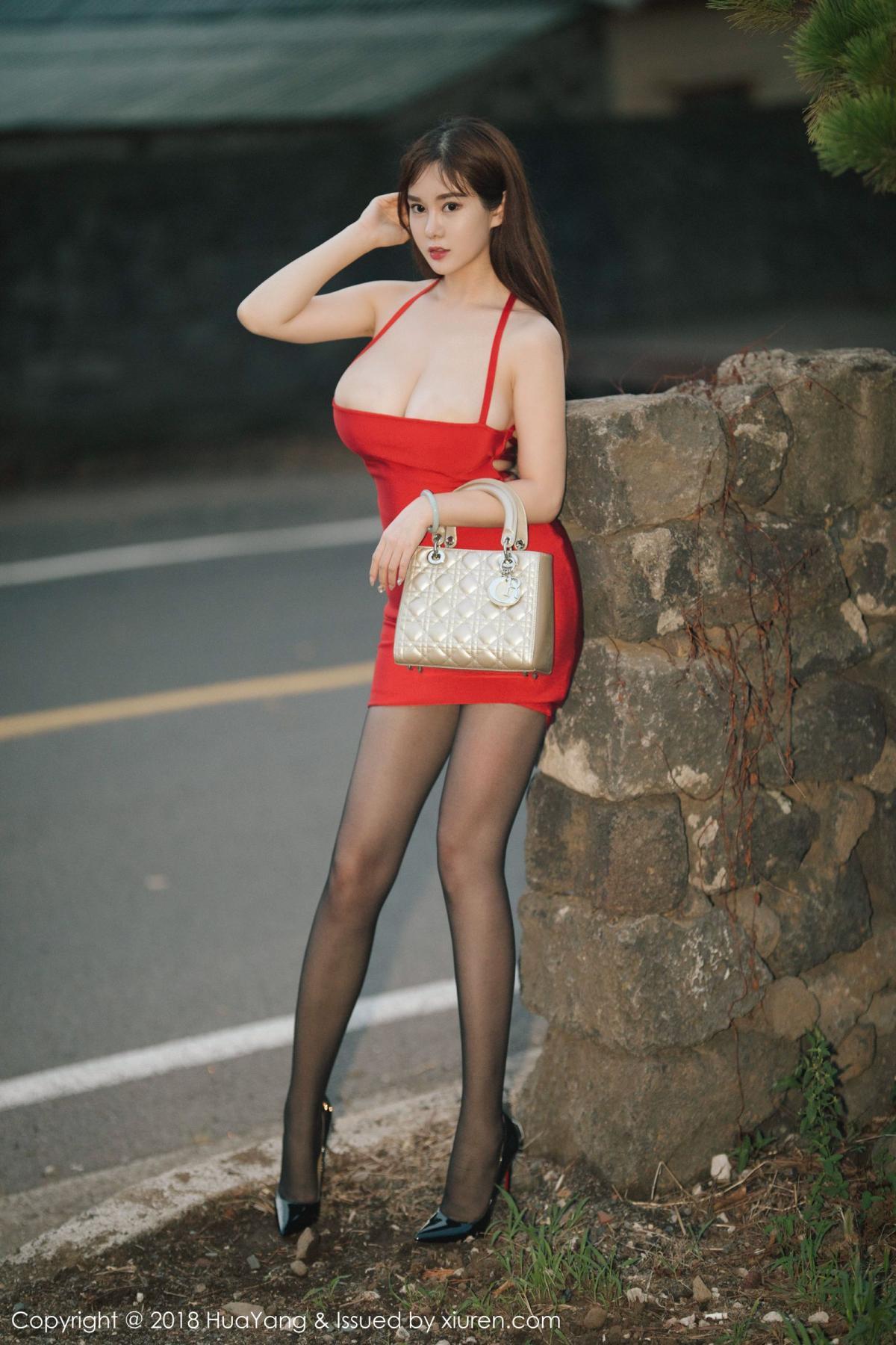 [Huayang] Vol.080 Yi Yang 36P, Black Silk, HuaYang, Tall, Yi Yang