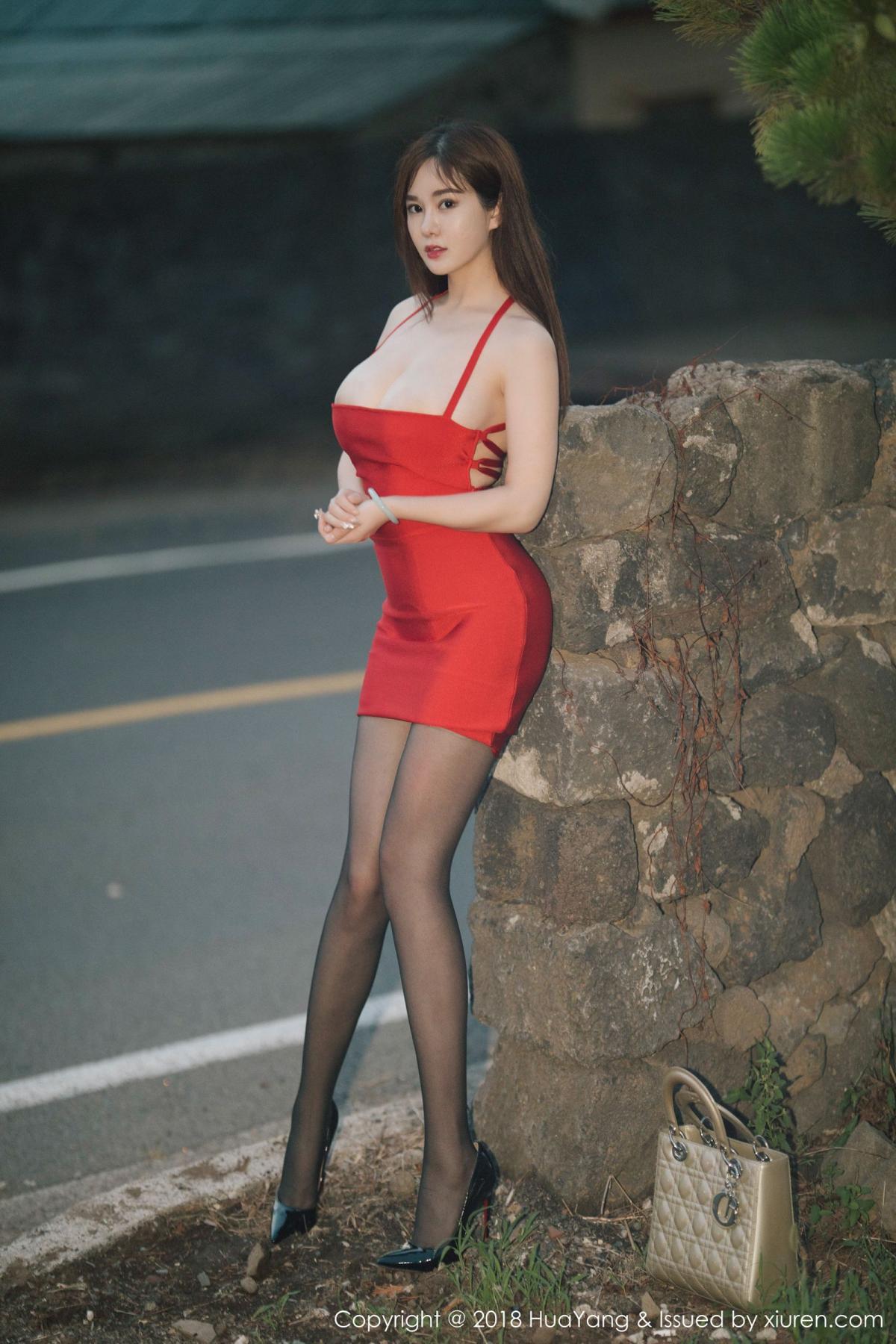 [Huayang] Vol.080 Yi Yang 38P, Black Silk, HuaYang, Tall, Yi Yang