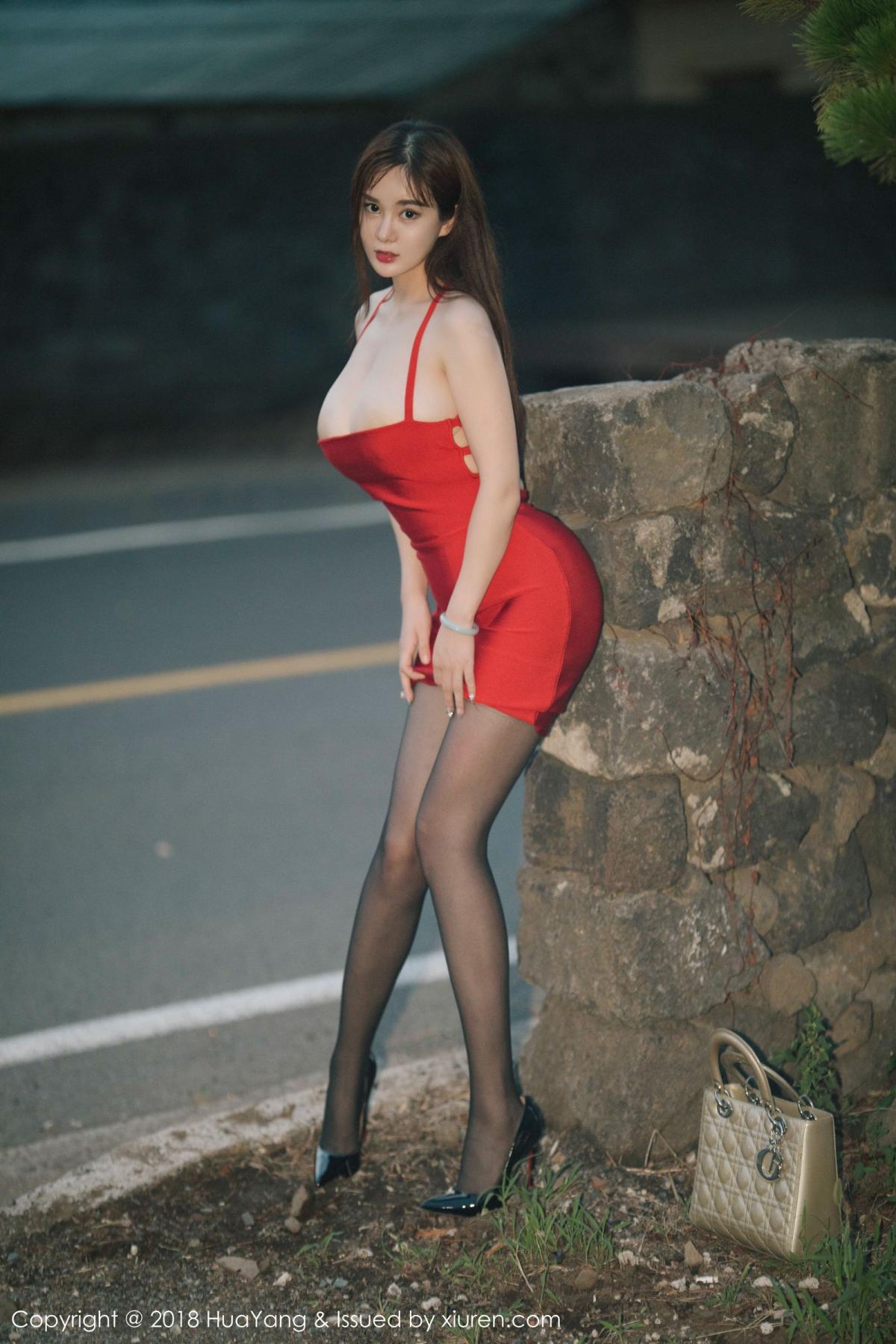 [Huayang] Vol.080 Yi Yang 39P, Black Silk, HuaYang, Tall, Yi Yang