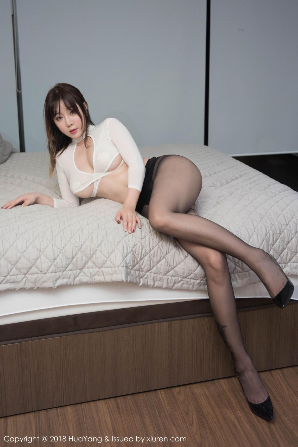 [Huayang] Vol.081 Wang Yu Chun 24P, Black Silk, HuaYang, Tall, Wang Yu Chun