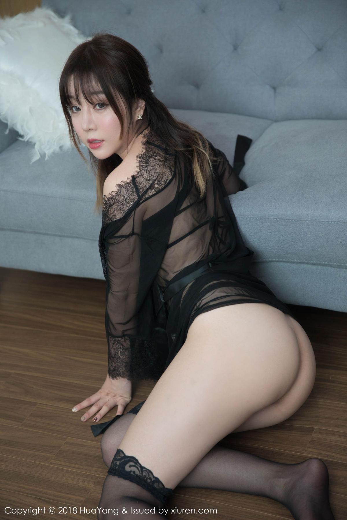 [Huayang] Vol.081 Wang Yu Chun 41P, Black Silk, HuaYang, Tall, Wang Yu Chun