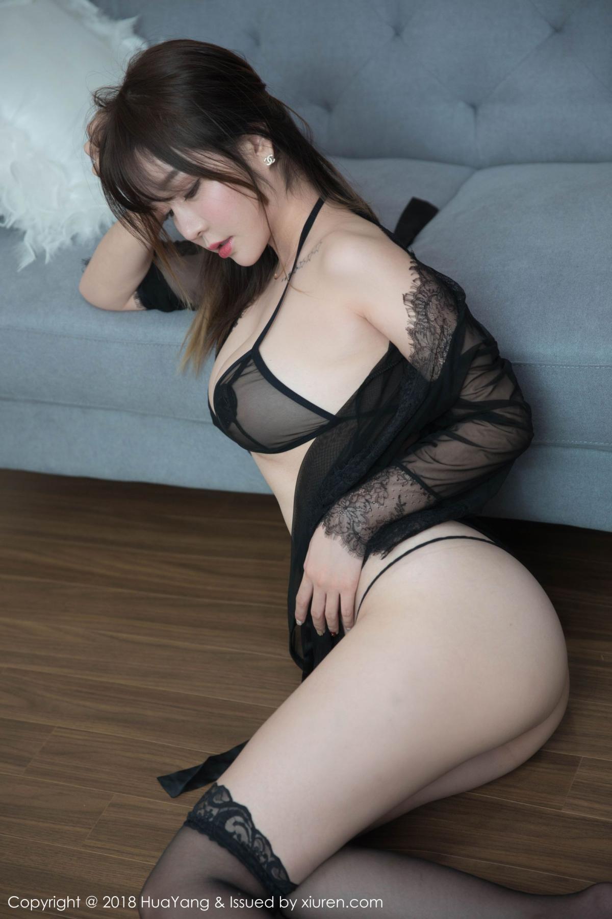 [Huayang] Vol.081 Wang Yu Chun 42P, Black Silk, HuaYang, Tall, Wang Yu Chun