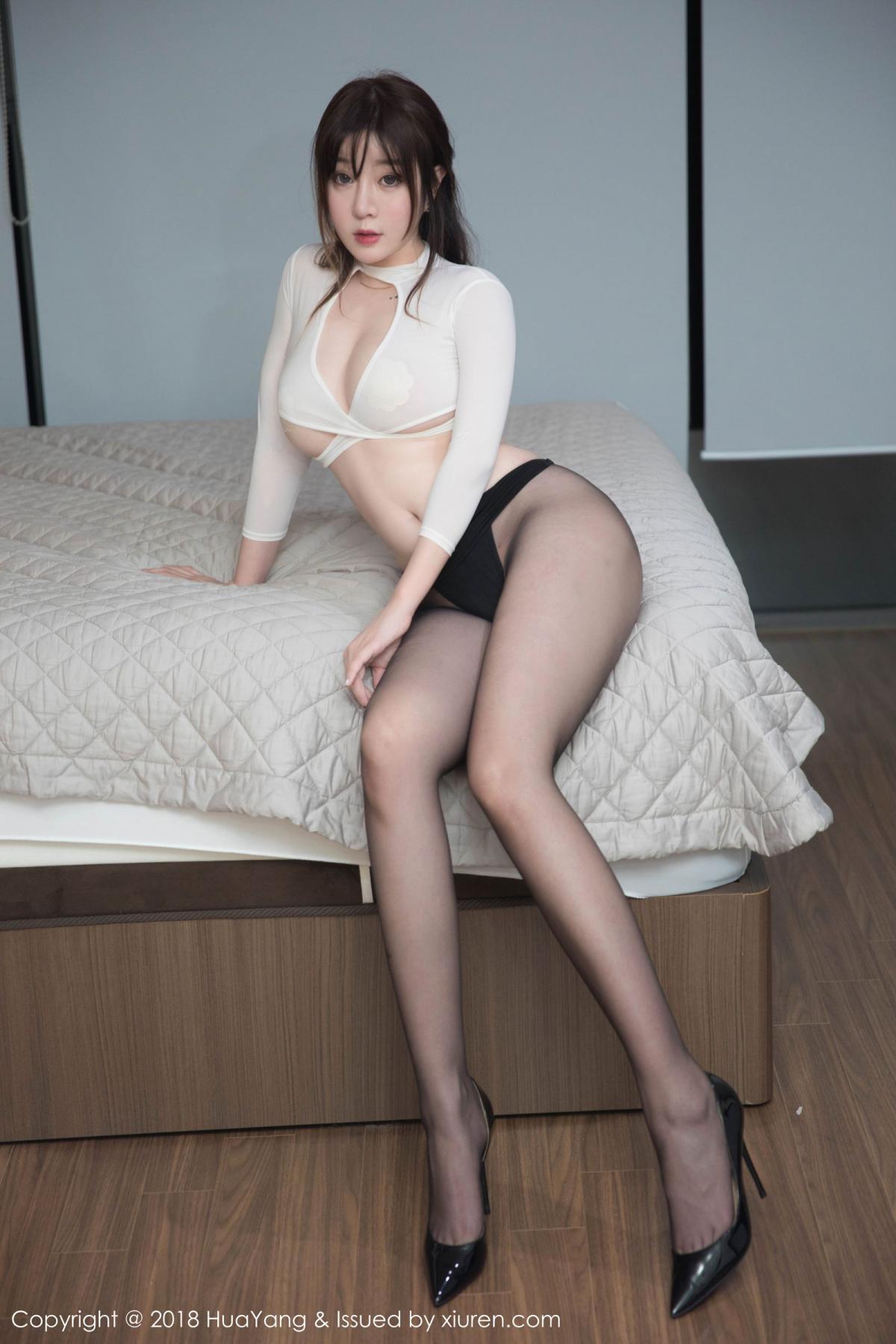 [Huayang] Vol.081 Wang Yu Chun 4P, Black Silk, HuaYang, Tall, Wang Yu Chun