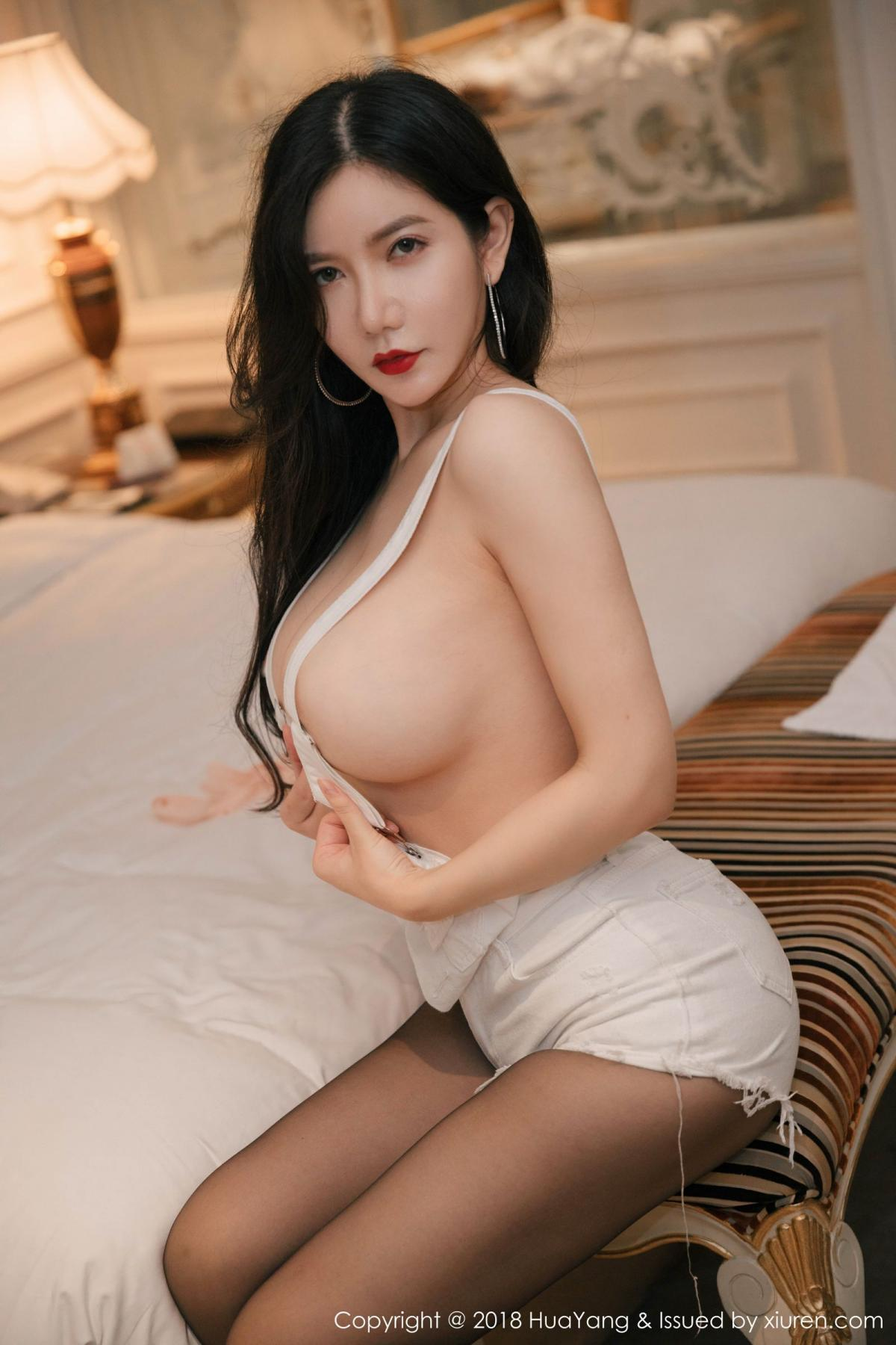 [Huayang] Vol.091 Li Yan Xi 13P, Black Silk, HuaYang, Li Yan Xi