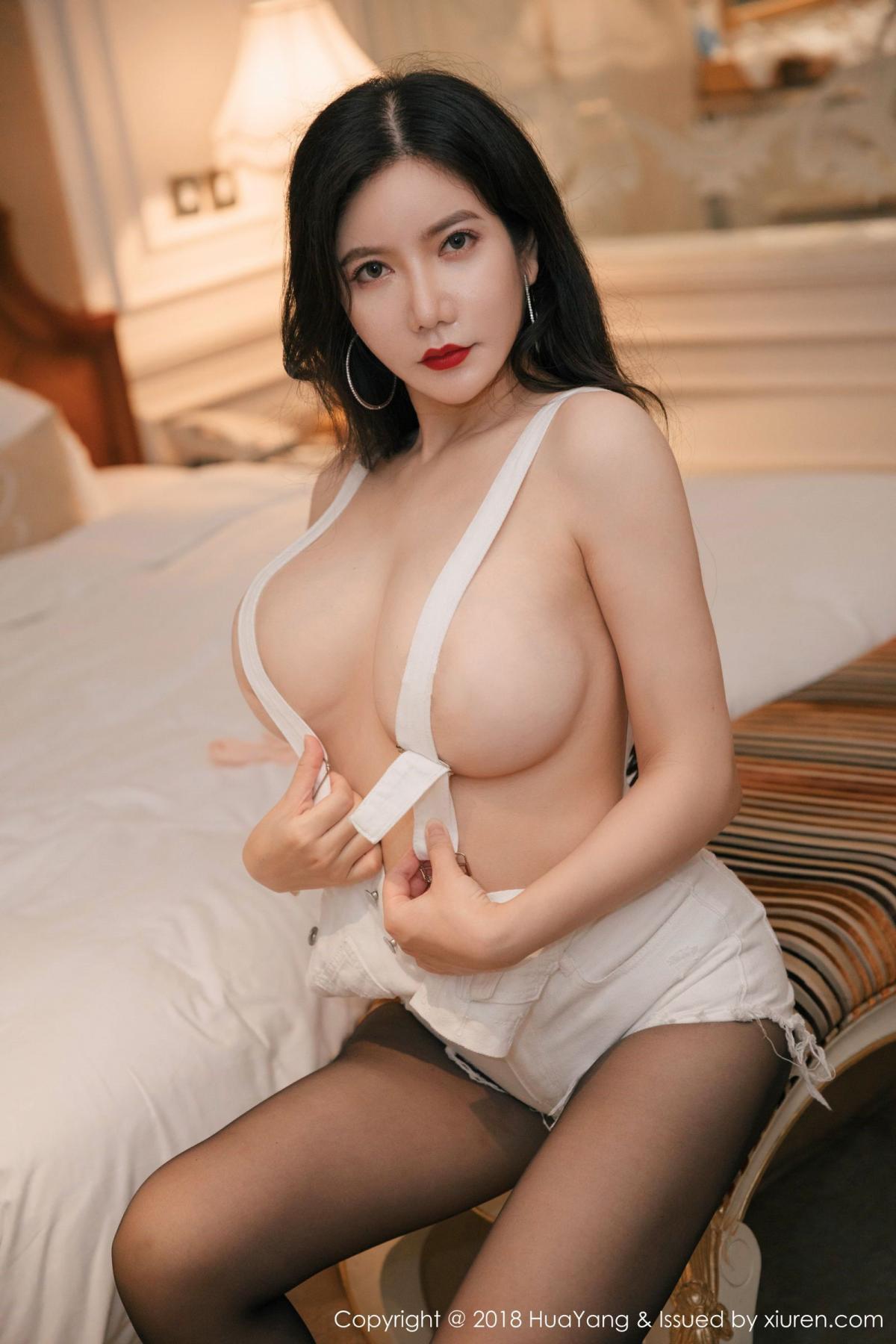 [Huayang] Vol.091 Li Yan Xi 18P, Black Silk, HuaYang, Li Yan Xi