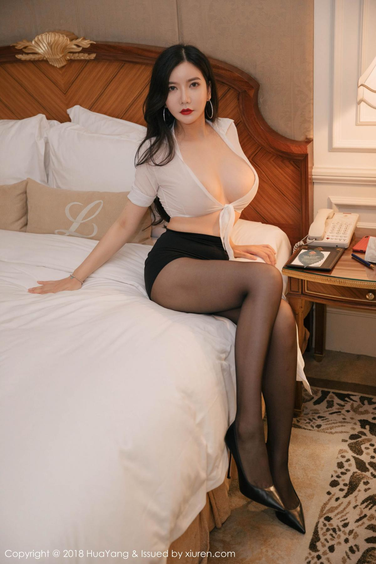 [Huayang] Vol.091 Li Yan Xi 20P, Black Silk, HuaYang, Li Yan Xi
