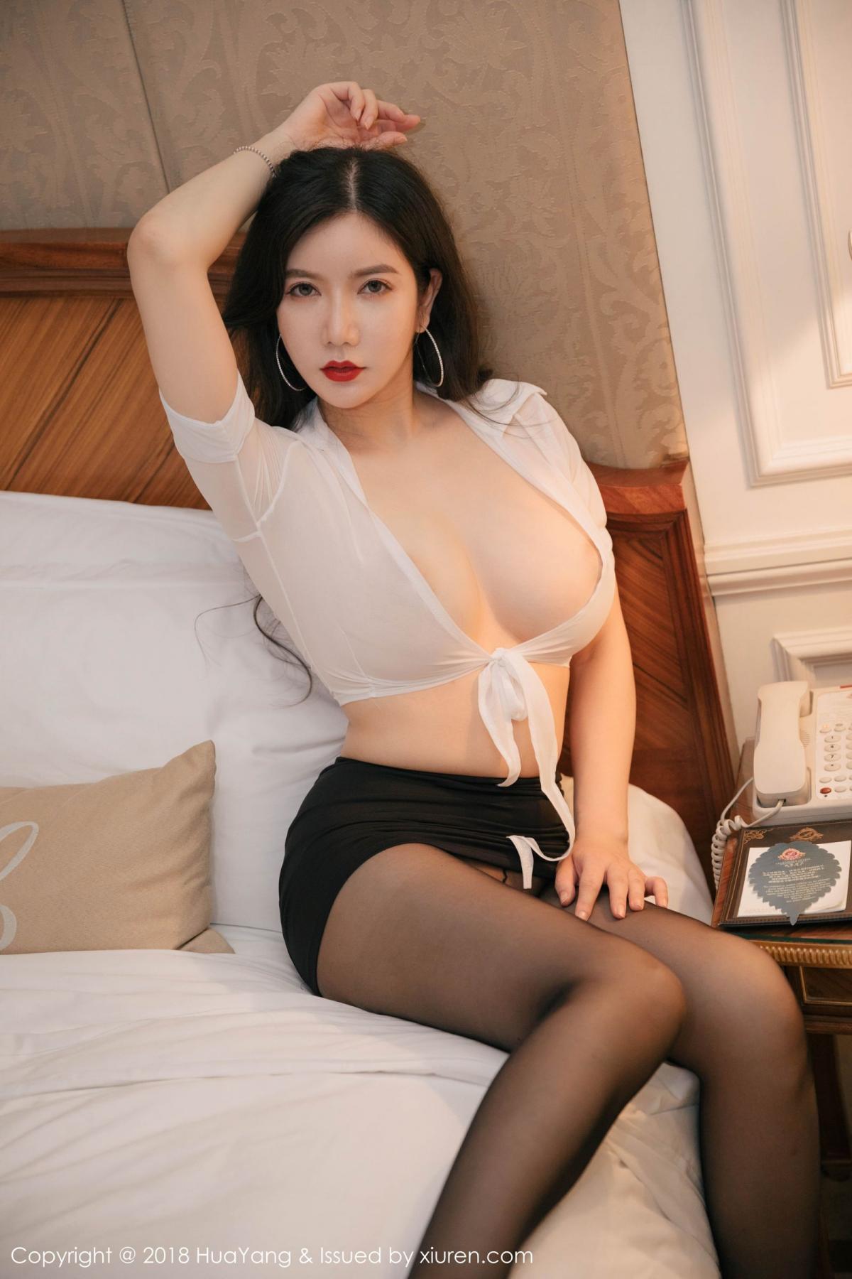 [Huayang] Vol.091 Li Yan Xi 29P, Black Silk, HuaYang, Li Yan Xi
