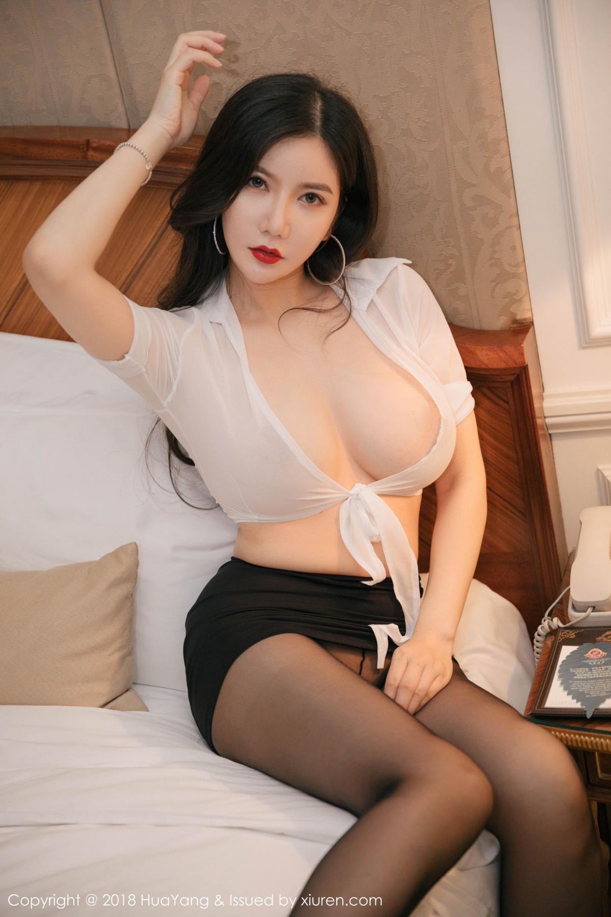 [Huayang] Vol.091 Li Yan Xi 31P, Black Silk, HuaYang, Li Yan Xi