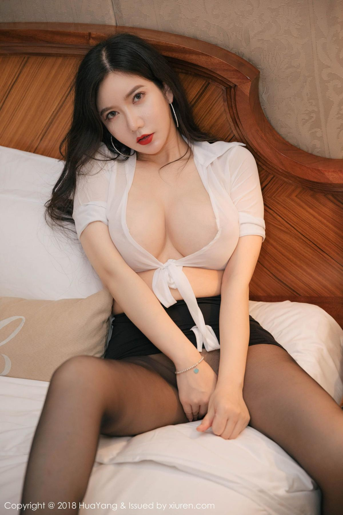[Huayang] Vol.091 Li Yan Xi 33P, Black Silk, HuaYang, Li Yan Xi