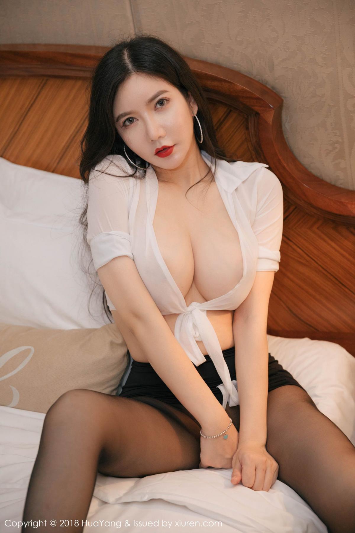[Huayang] Vol.091 Li Yan Xi 34P, Black Silk, HuaYang, Li Yan Xi