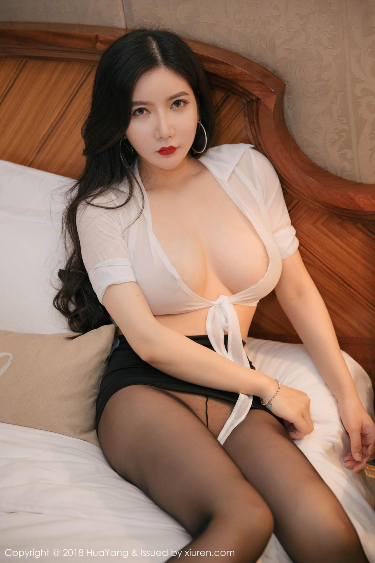 [Huayang] Vol.091 Li Yan Xi 35P, Black Silk, HuaYang, Li Yan Xi