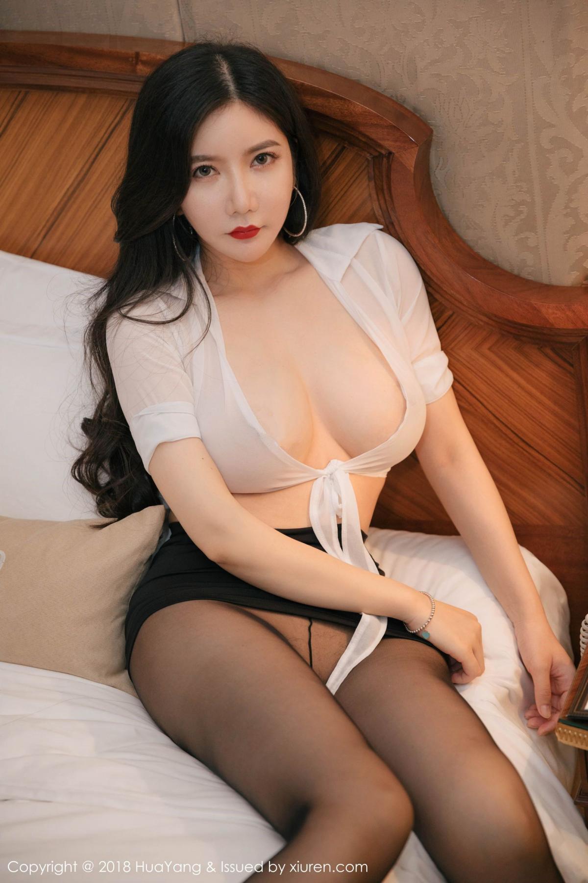 [Huayang] Vol.091 Li Yan Xi 36P, Black Silk, HuaYang, Li Yan Xi
