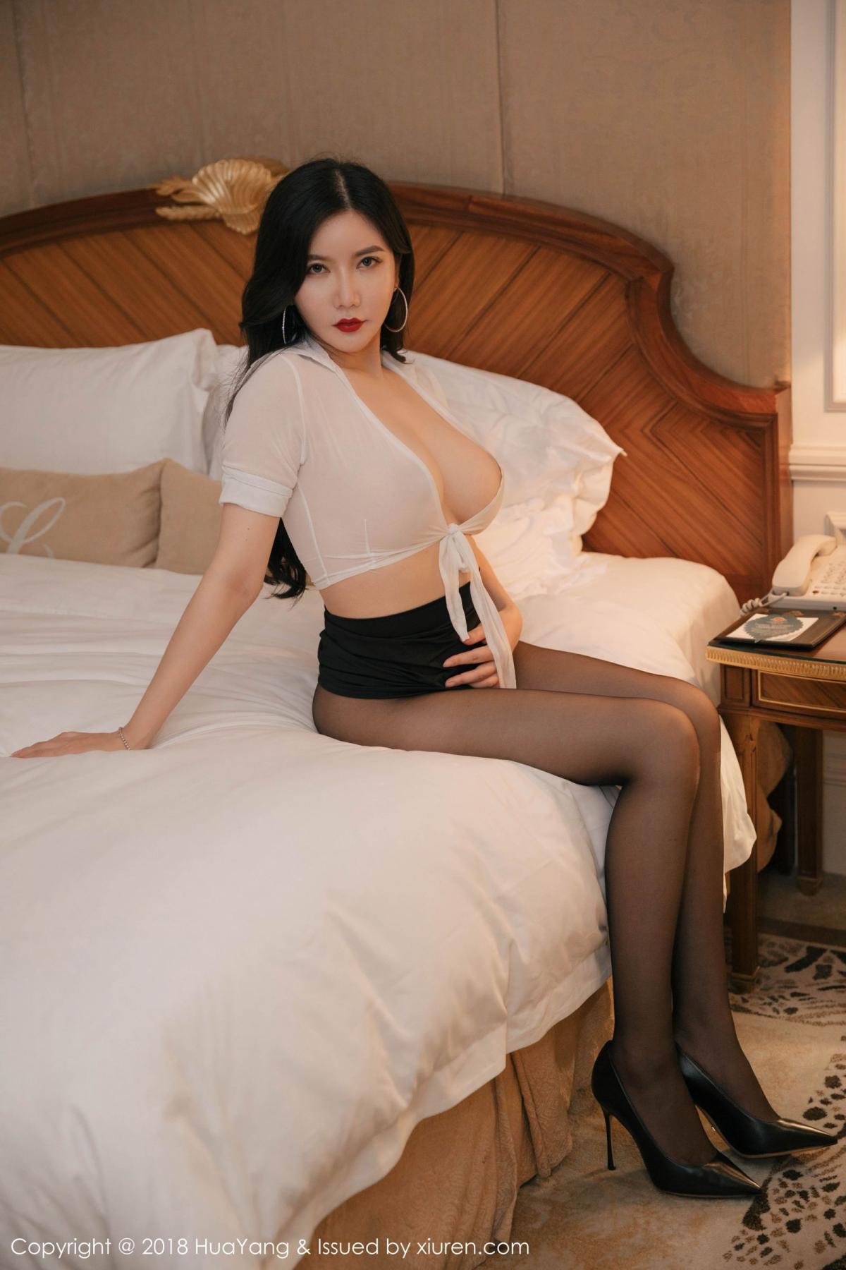 [Huayang] Vol.091 Li Yan Xi 44P, Black Silk, HuaYang, Li Yan Xi