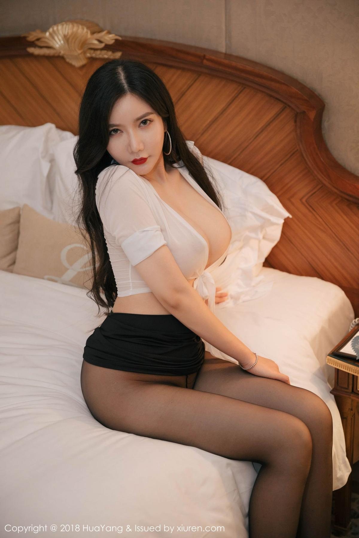 [Huayang] Vol.091 Li Yan Xi 45P, Black Silk, HuaYang, Li Yan Xi