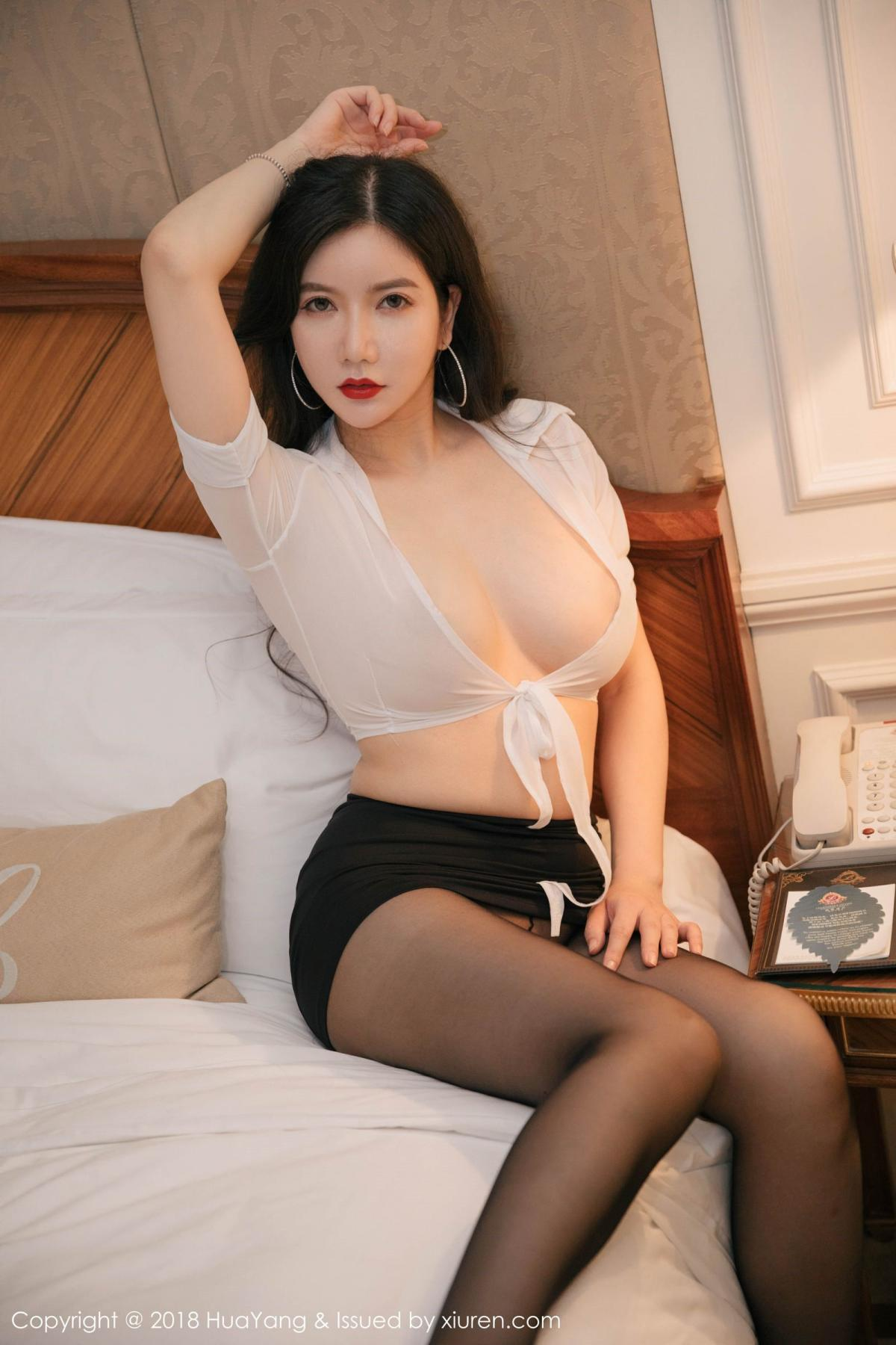 [Huayang] Vol.091 Li Yan Xi 7P, Black Silk, HuaYang, Li Yan Xi
