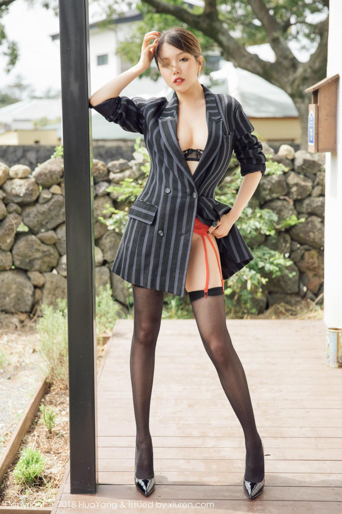 [Huayang] Vol.094 Huang Le Ran 14P, Black Silk, Huang Le Ran, HuaYang, Tall, Underwear