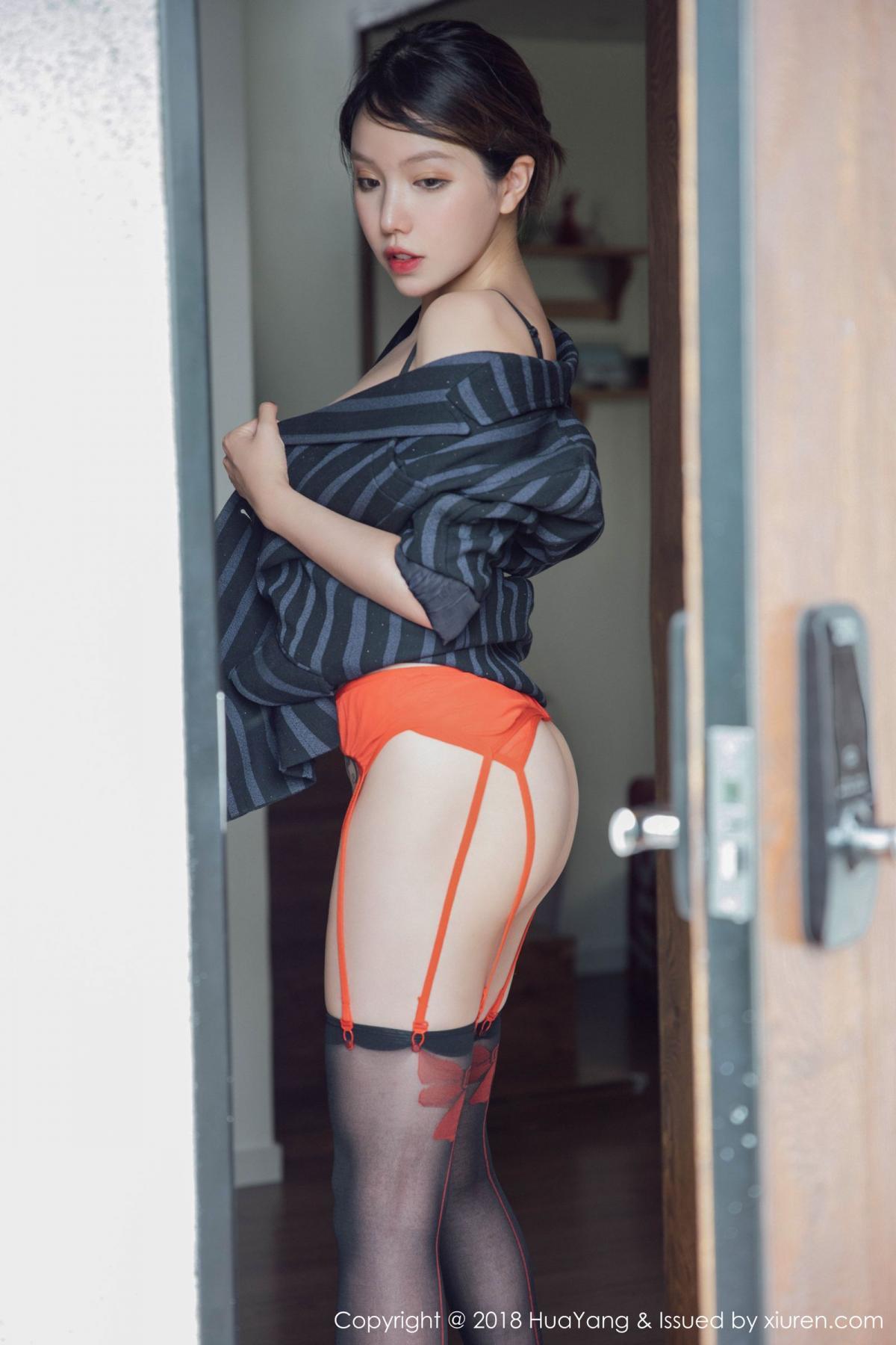 [Huayang] Vol.094 Huang Le Ran 2P, Black Silk, Huang Le Ran, HuaYang, Tall, Underwear