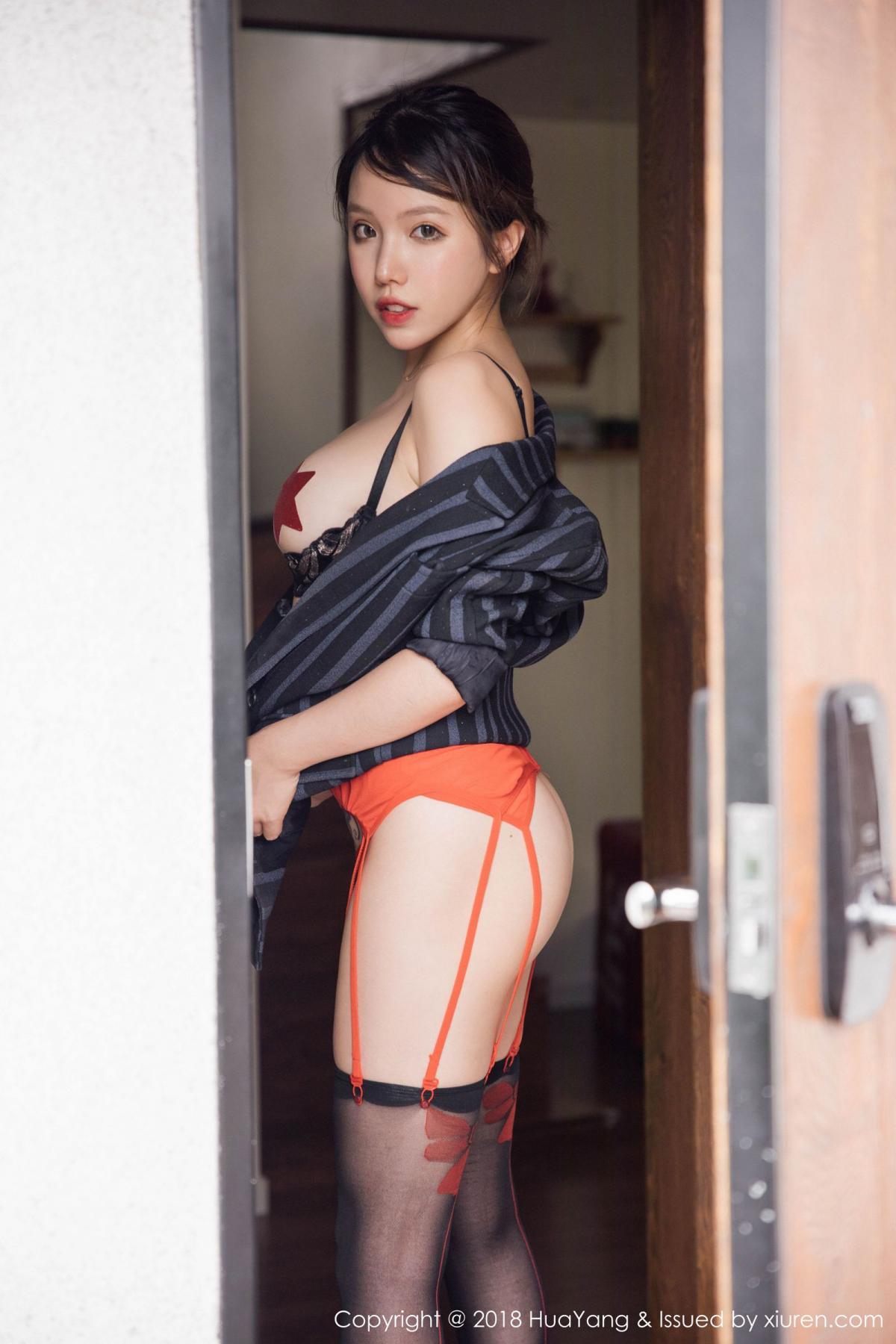 [Huayang] Vol.094 Huang Le Ran 35P, Black Silk, Huang Le Ran, HuaYang, Tall, Underwear
