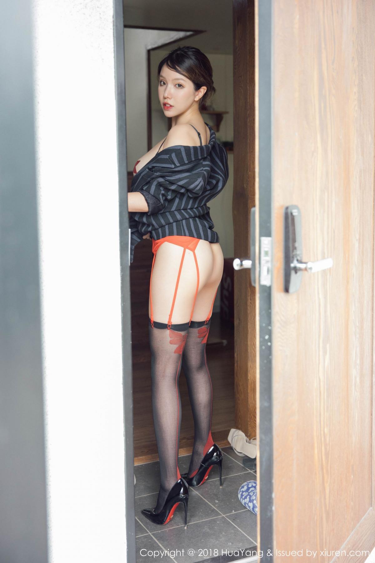 [Huayang] Vol.094 Huang Le Ran 40P, Black Silk, Huang Le Ran, HuaYang, Tall, Underwear