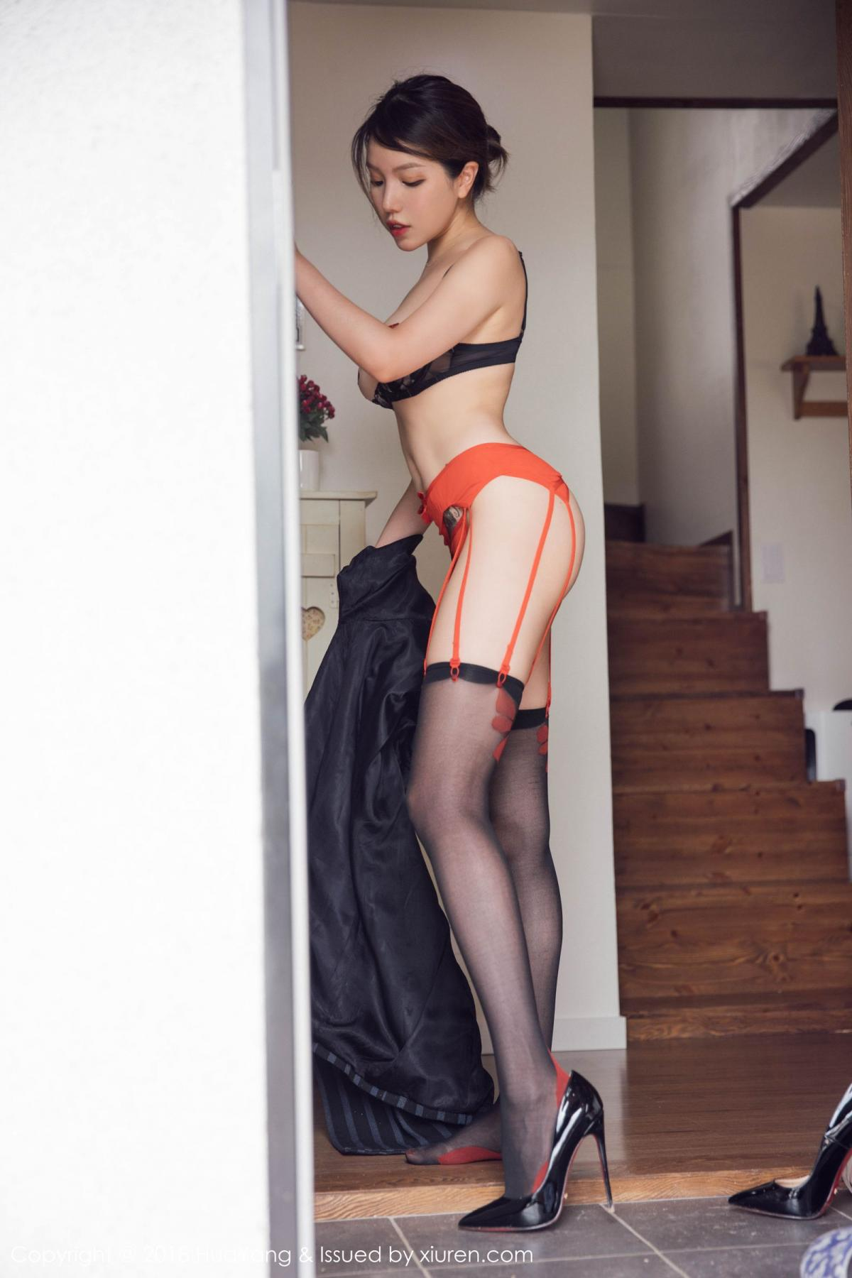 [Huayang] Vol.094 Huang Le Ran 45P, Black Silk, Huang Le Ran, HuaYang, Tall, Underwear