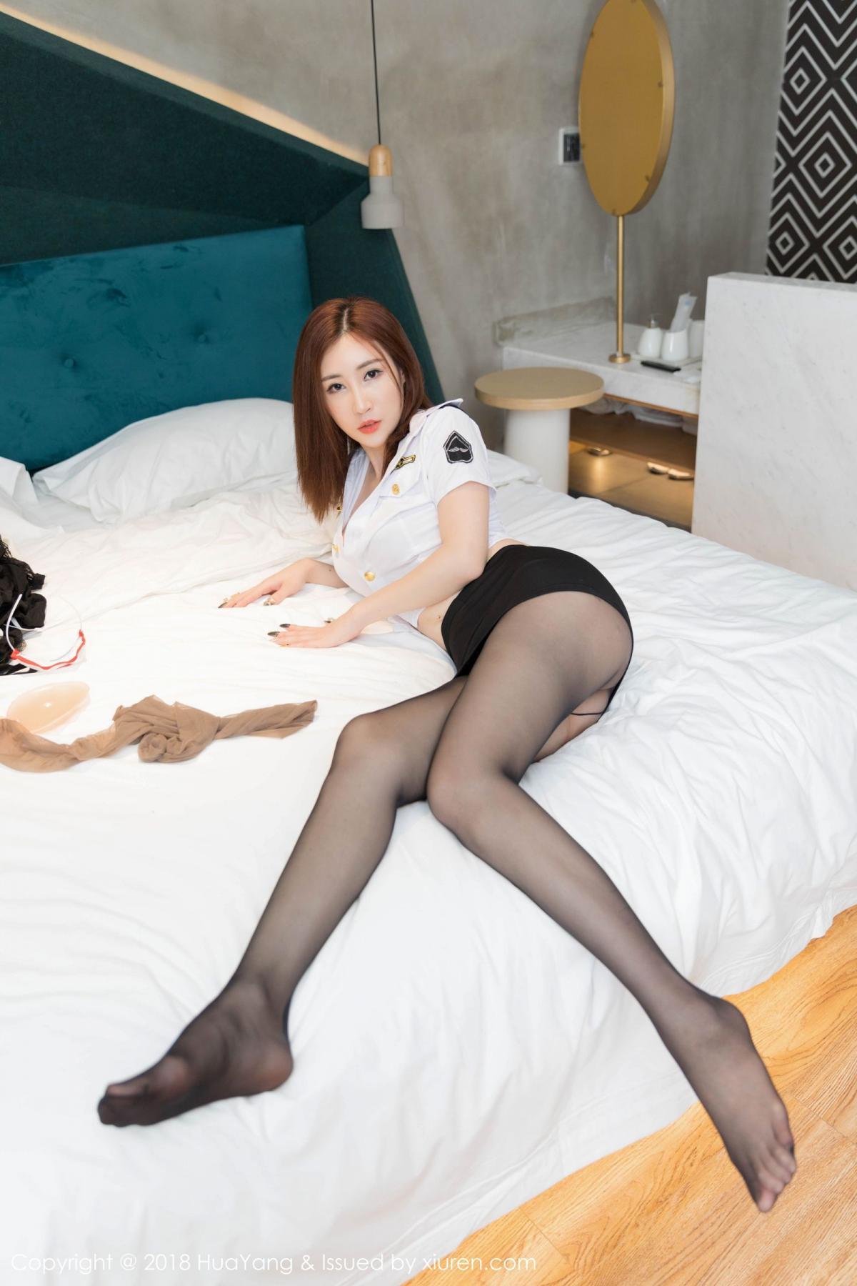 [Huayang] Vol.098 Sun Meng Yao 11P, Black Silk, HuaYang, Sun Meng Yao, Uniform