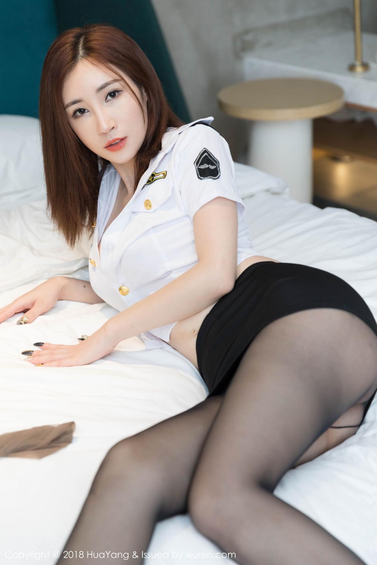 [Huayang] Vol.098 Sun Meng Yao 12P, Black Silk, HuaYang, Sun Meng Yao, Uniform
