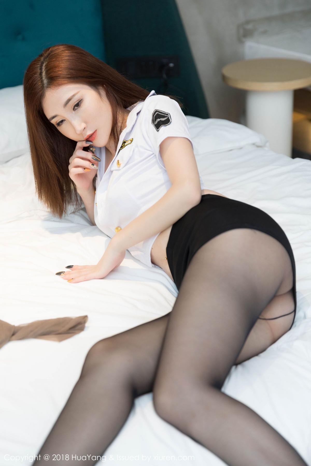 [Huayang] Vol.098 Sun Meng Yao 13P, Black Silk, HuaYang, Sun Meng Yao, Uniform