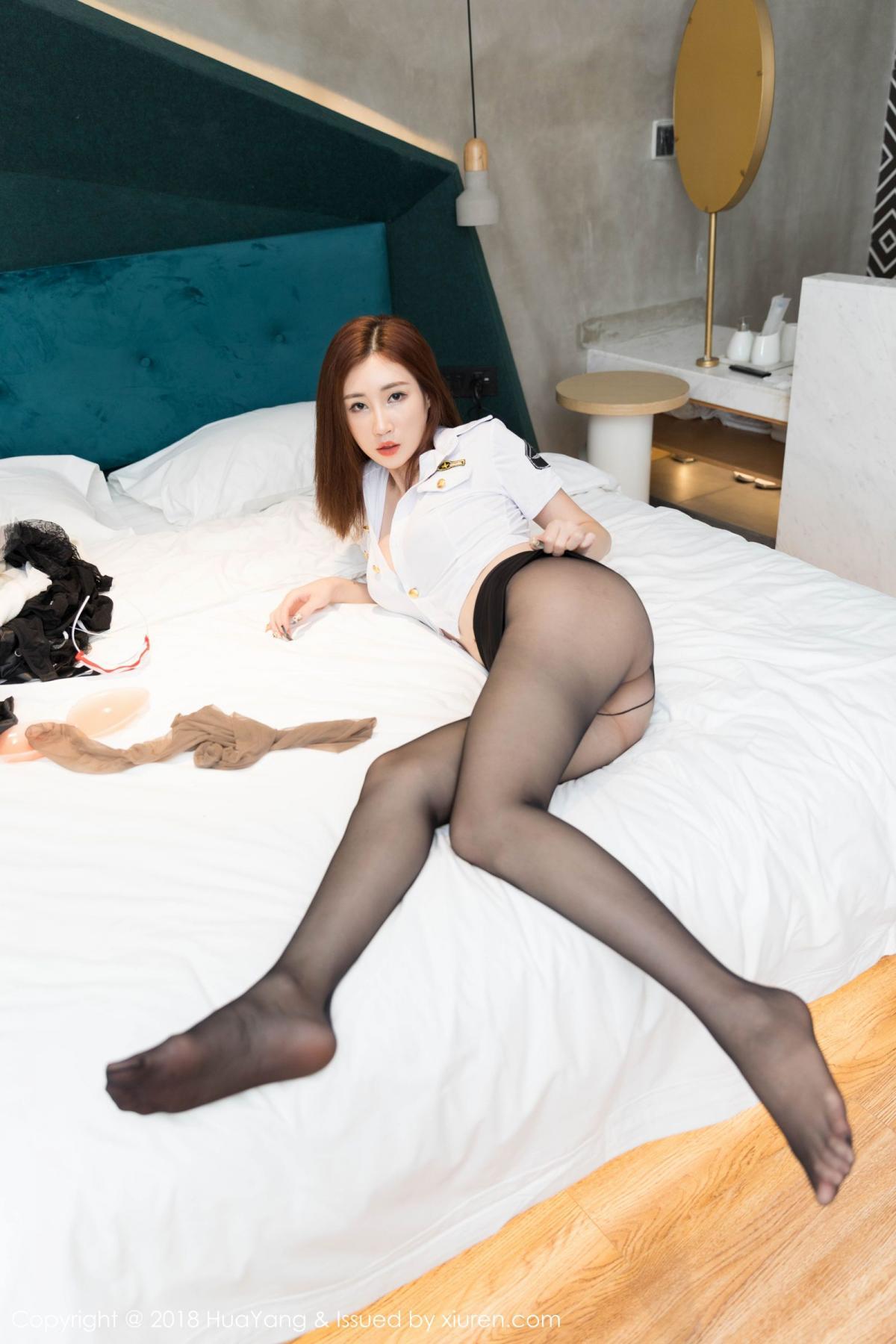 [Huayang] Vol.098 Sun Meng Yao 15P, Black Silk, HuaYang, Sun Meng Yao, Uniform
