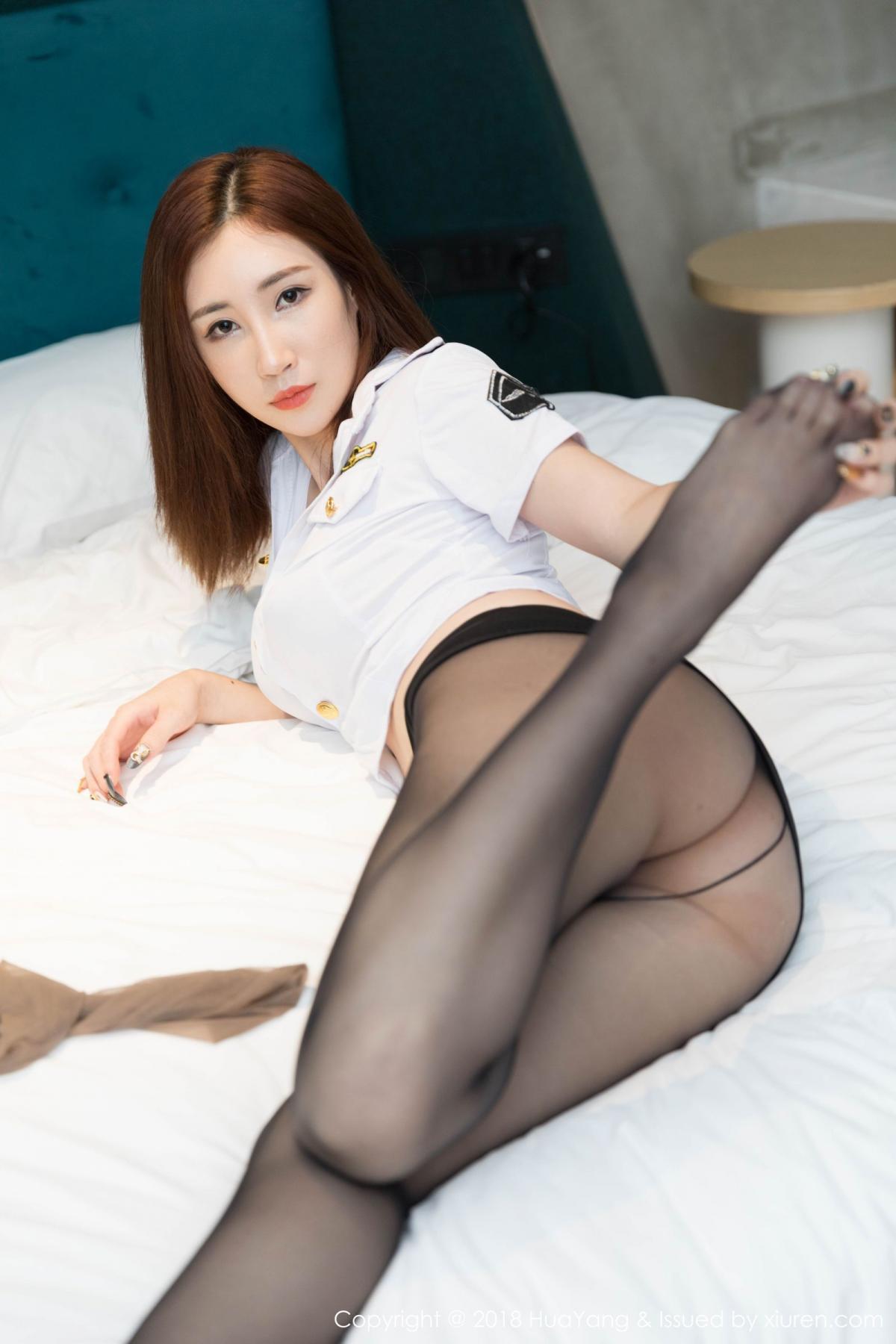 [Huayang] Vol.098 Sun Meng Yao 16P, Black Silk, HuaYang, Sun Meng Yao, Uniform