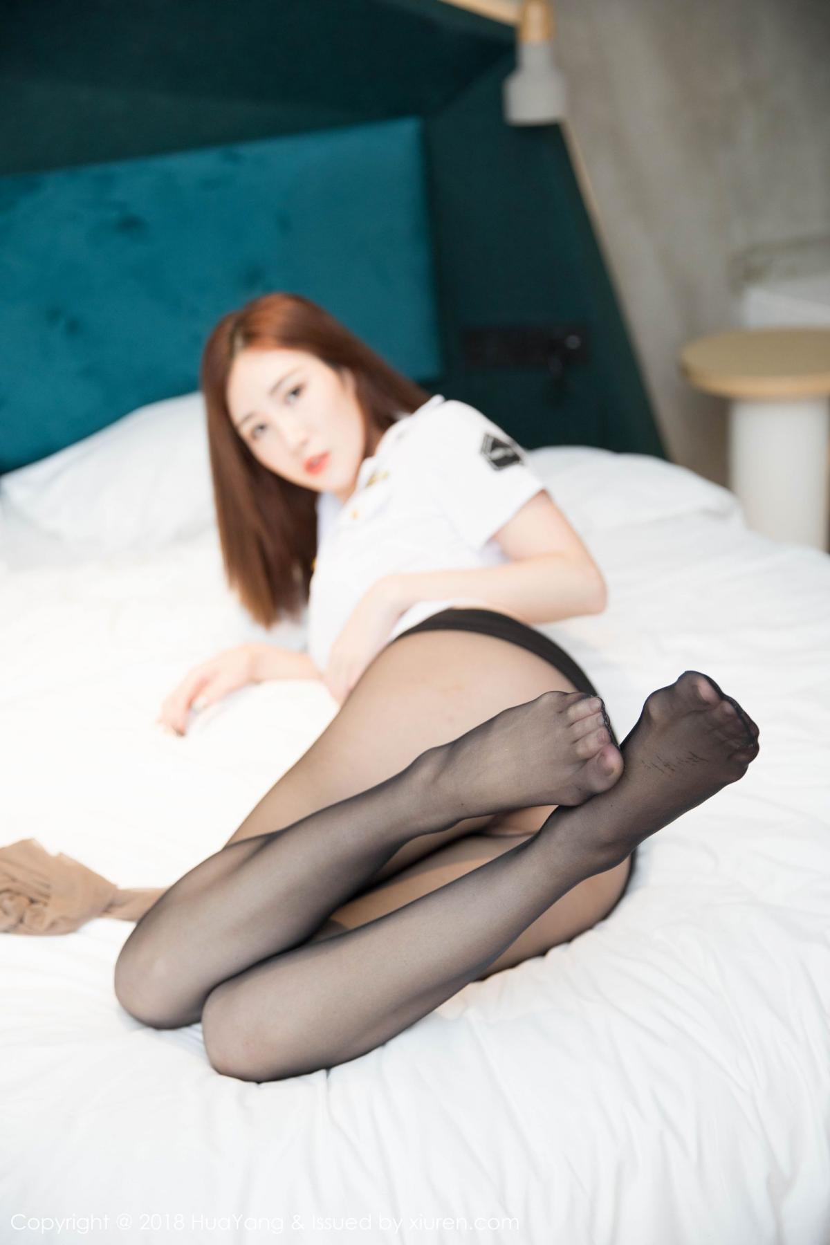 [Huayang] Vol.098 Sun Meng Yao 19P, Black Silk, HuaYang, Sun Meng Yao, Uniform
