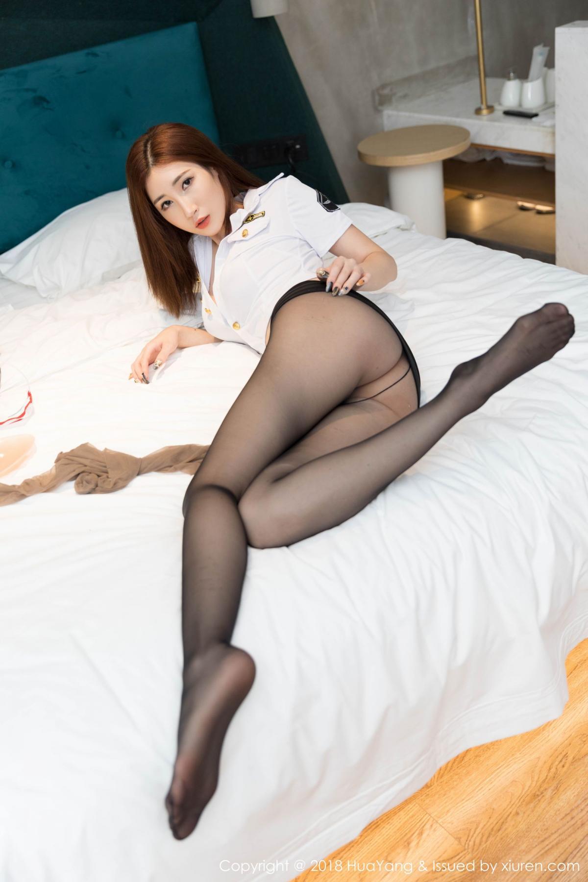 [Huayang] Vol.098 Sun Meng Yao 20P, Black Silk, HuaYang, Sun Meng Yao, Uniform