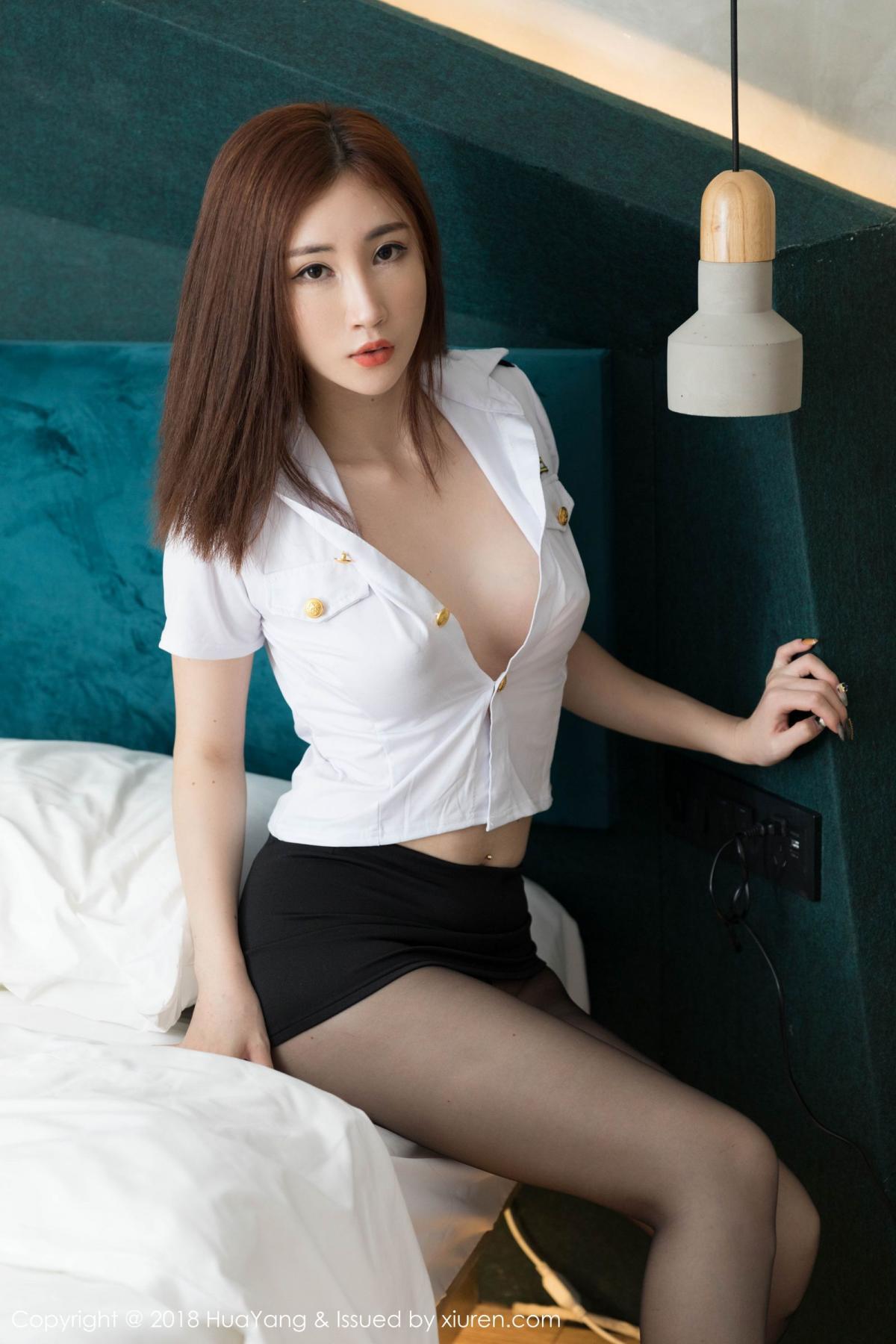 [Huayang] Vol.098 Sun Meng Yao 21P, Black Silk, HuaYang, Sun Meng Yao, Uniform
