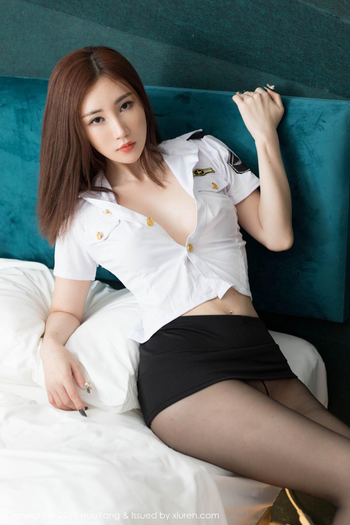 [Huayang] Vol.098 Sun Meng Yao 22P, Black Silk, HuaYang, Sun Meng Yao, Uniform