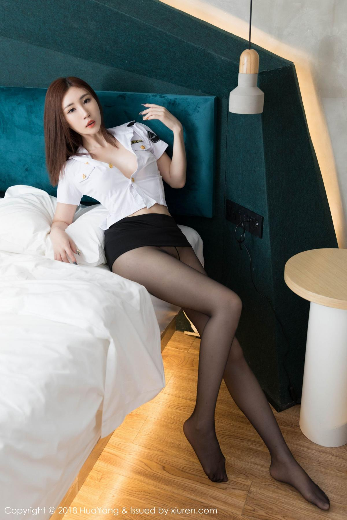 [Huayang] Vol.098 Sun Meng Yao 23P, Black Silk, HuaYang, Sun Meng Yao, Uniform