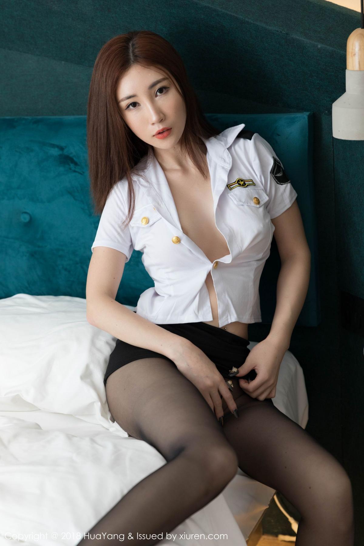 [Huayang] Vol.098 Sun Meng Yao 26P, Black Silk, HuaYang, Sun Meng Yao, Uniform