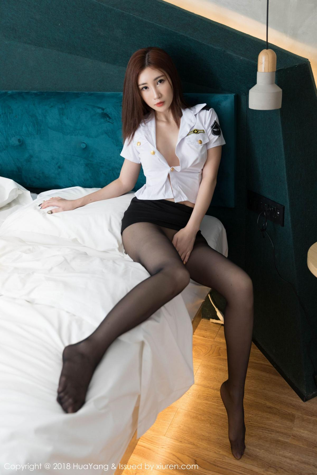 [Huayang] Vol.098 Sun Meng Yao 27P, Black Silk, HuaYang, Sun Meng Yao, Uniform