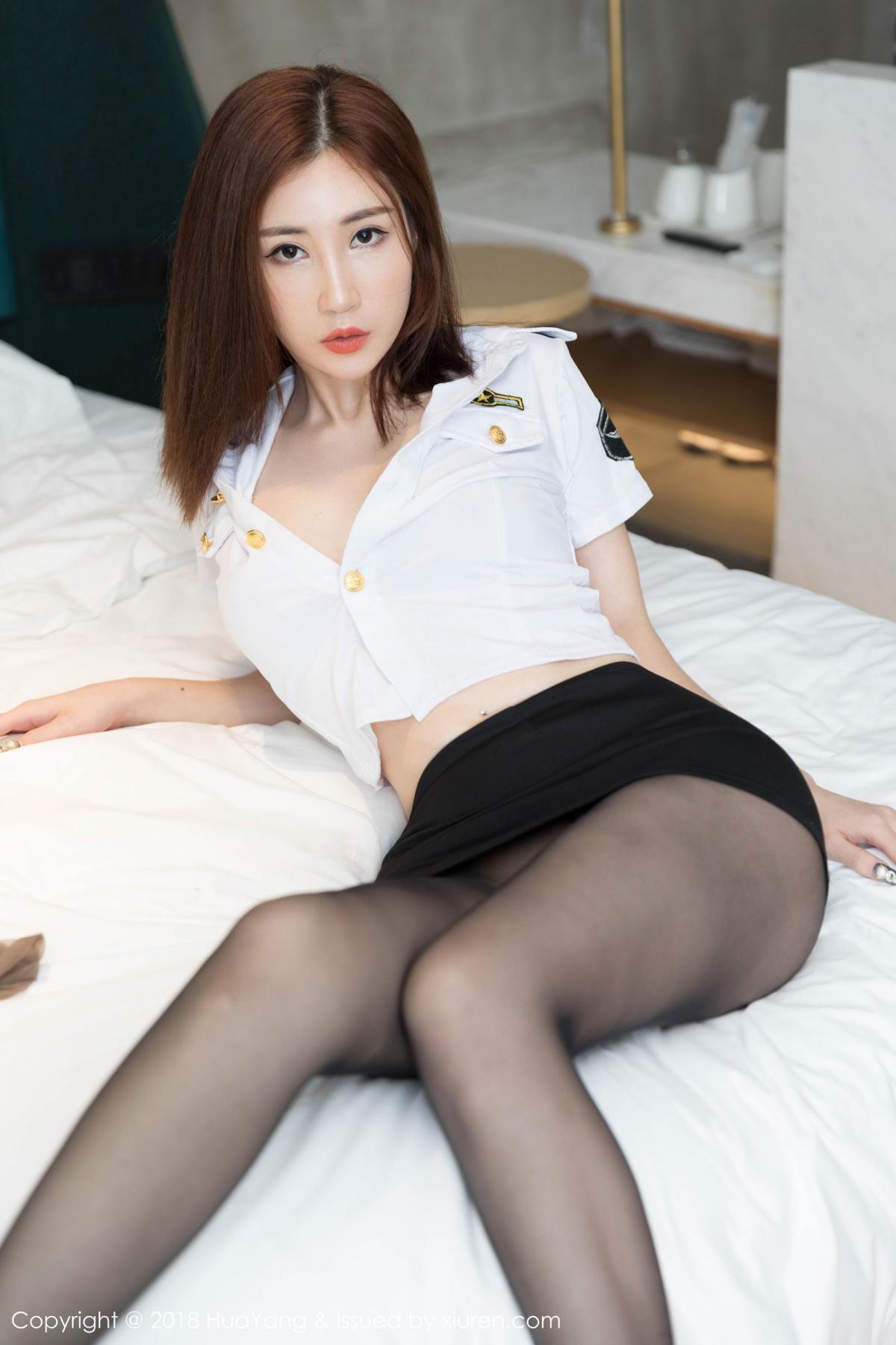 [Huayang] Vol.098 Sun Meng Yao 7P, Black Silk, HuaYang, Sun Meng Yao, Uniform