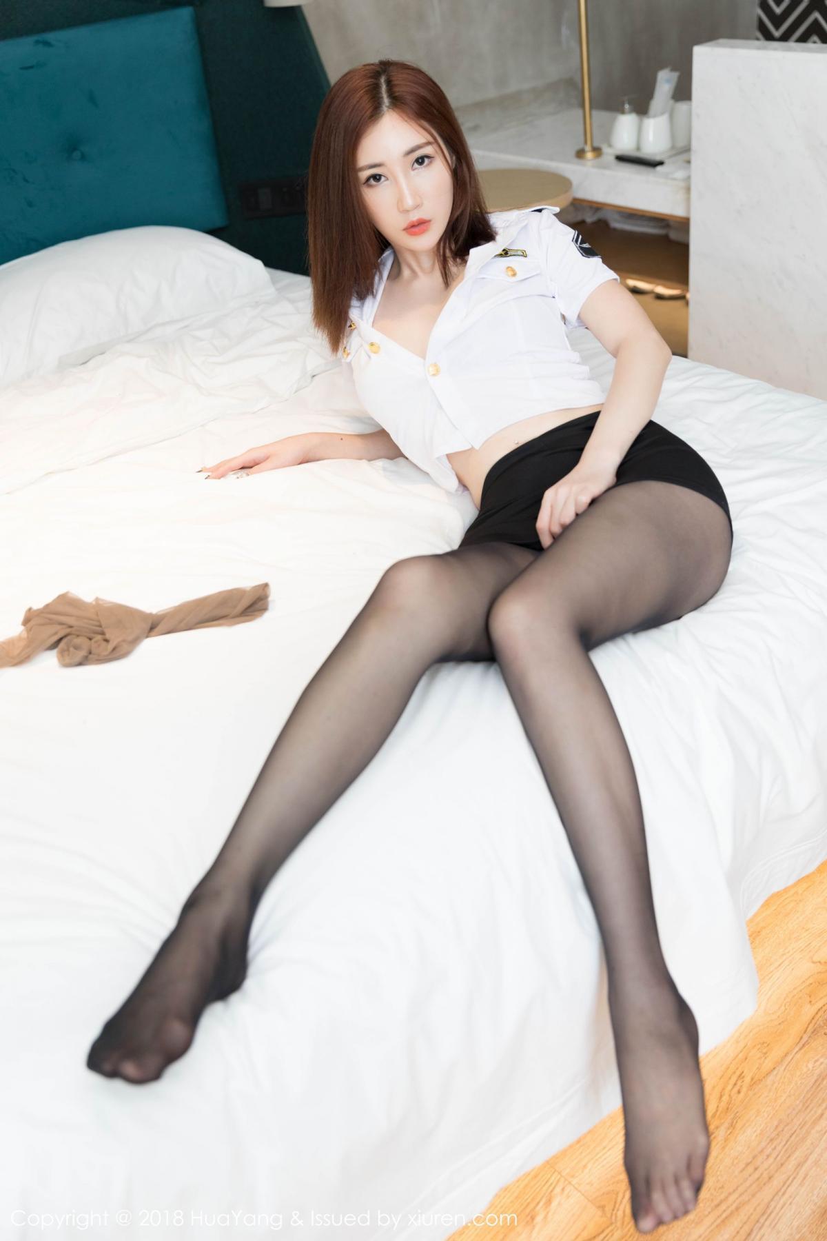 [Huayang] Vol.098 Sun Meng Yao 8P, Black Silk, HuaYang, Sun Meng Yao, Uniform