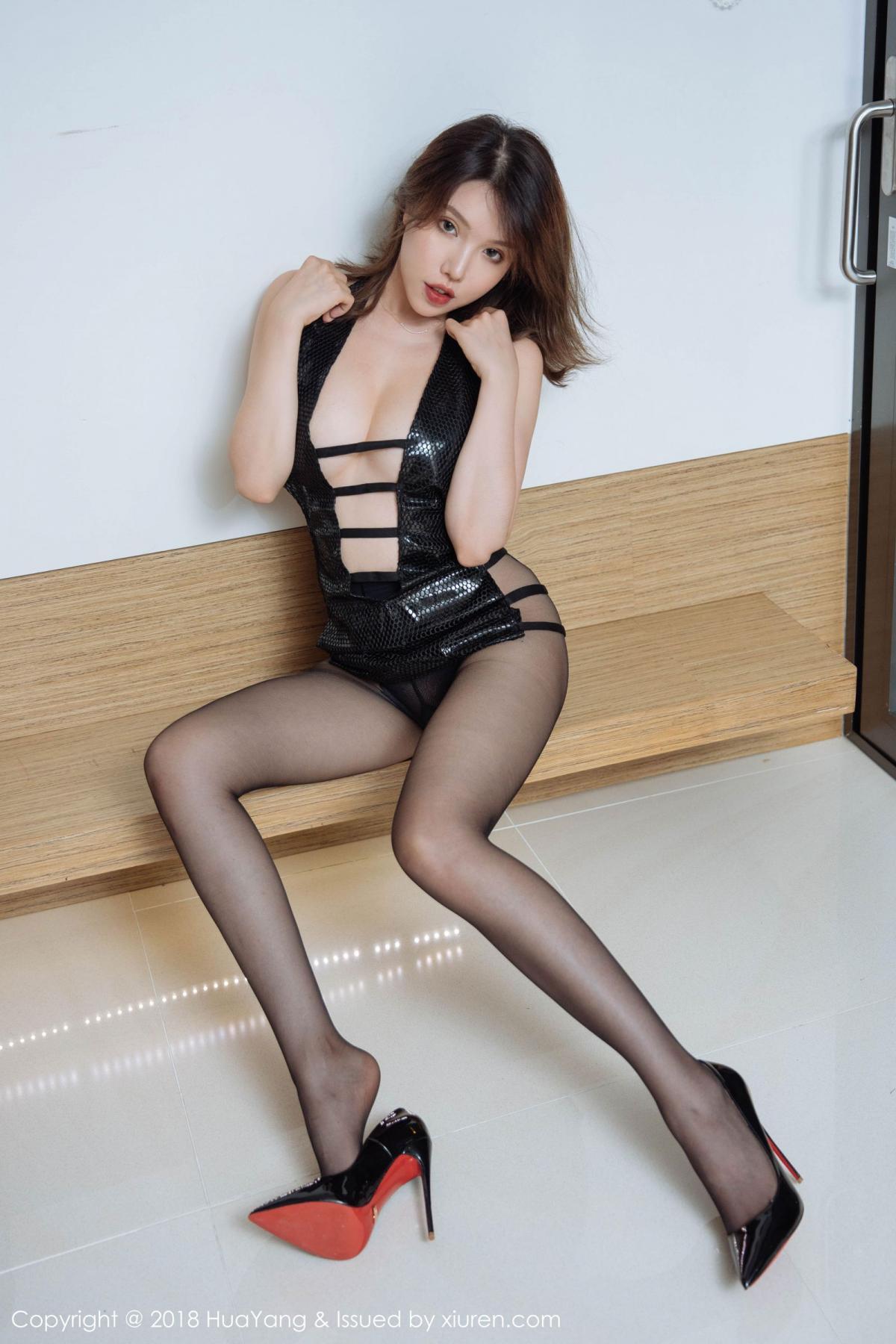 [Huayang] Vol.101 Huang Le Ran 23P, Black Silk, Huang Le Ran, HuaYang, Tall