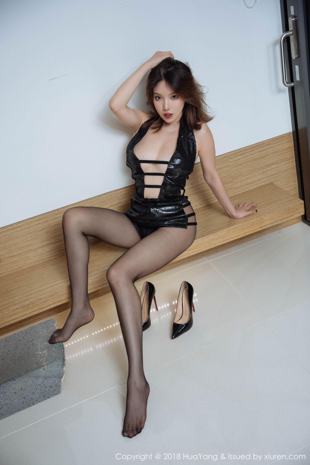 [Huayang] Vol.101 Huang Le Ran 26P, Black Silk, Huang Le Ran, HuaYang, Tall