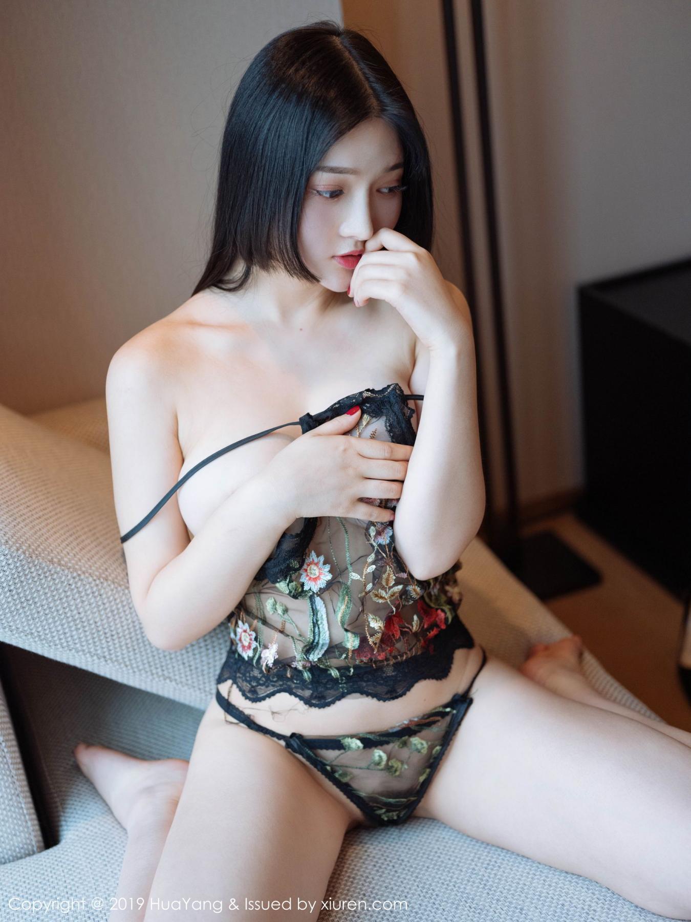 [Huayang] Vol.117 Tang Wan Er 13P, Adult, Black Silk, HuaYang, Sexy, Tang Wan Er