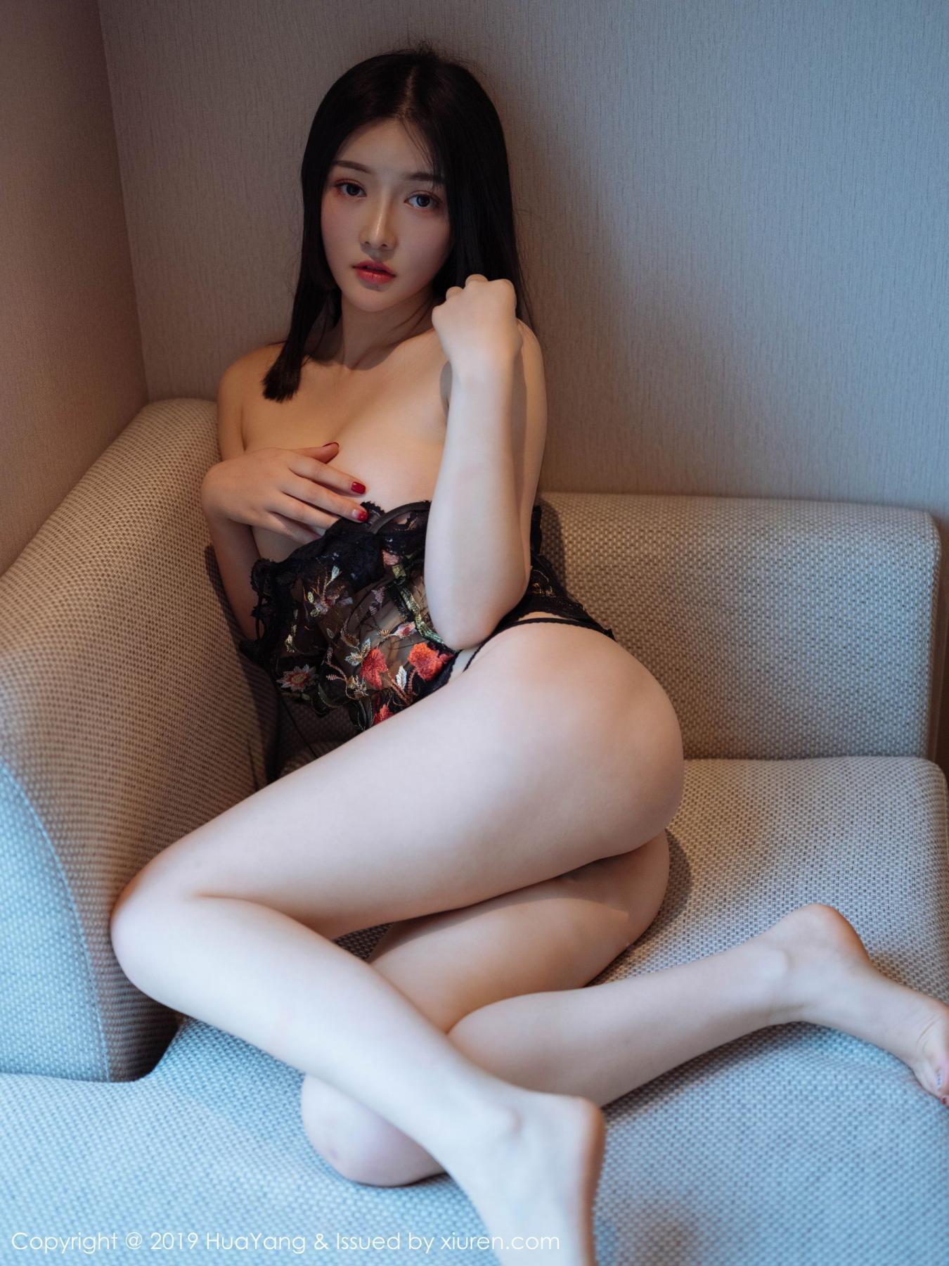 [Huayang] Vol.117 Tang Wan Er 17P, Adult, Black Silk, HuaYang, Sexy, Tang Wan Er