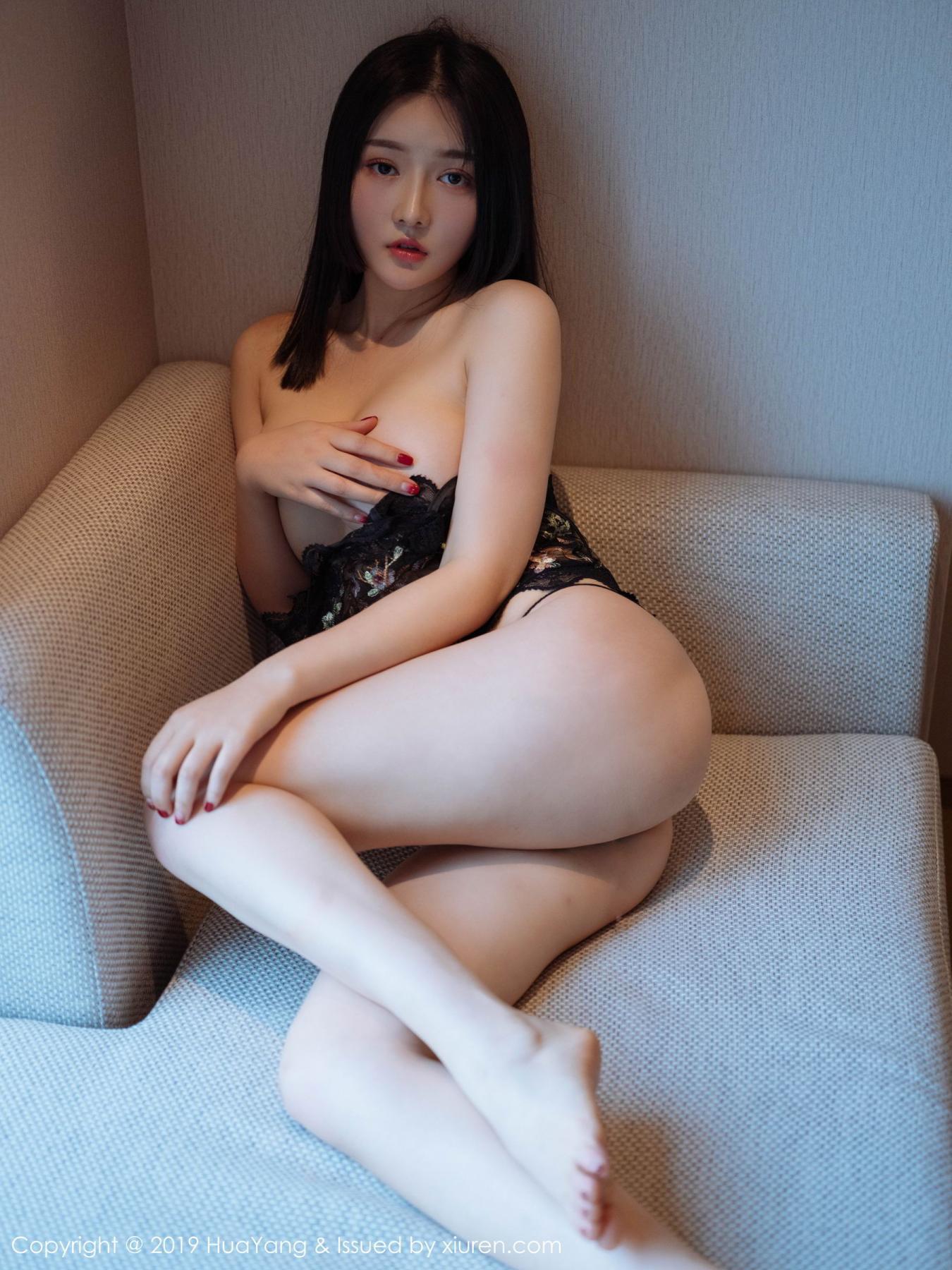 [Huayang] Vol.117 Tang Wan Er 19P, Adult, Black Silk, HuaYang, Sexy, Tang Wan Er
