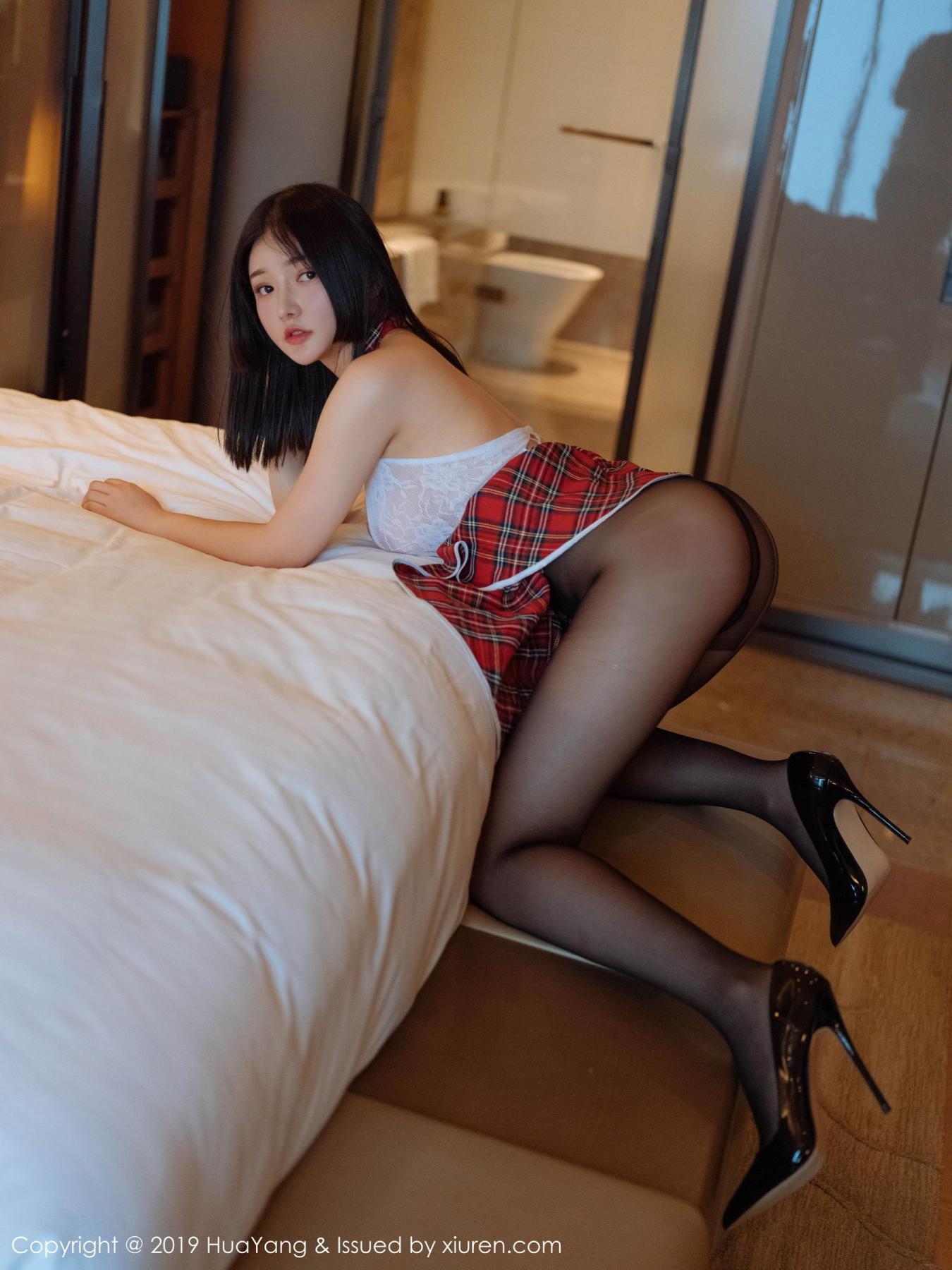 [Huayang] Vol.117 Tang Wan Er 31P, Adult, Black Silk, HuaYang, Sexy, Tang Wan Er