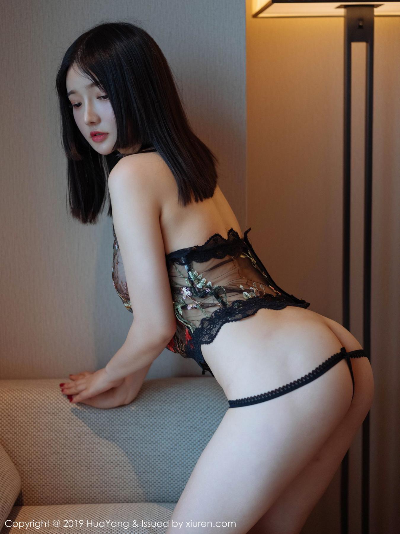 [Huayang] Vol.117 Tang Wan Er 8P, Adult, Black Silk, HuaYang, Sexy, Tang Wan Er